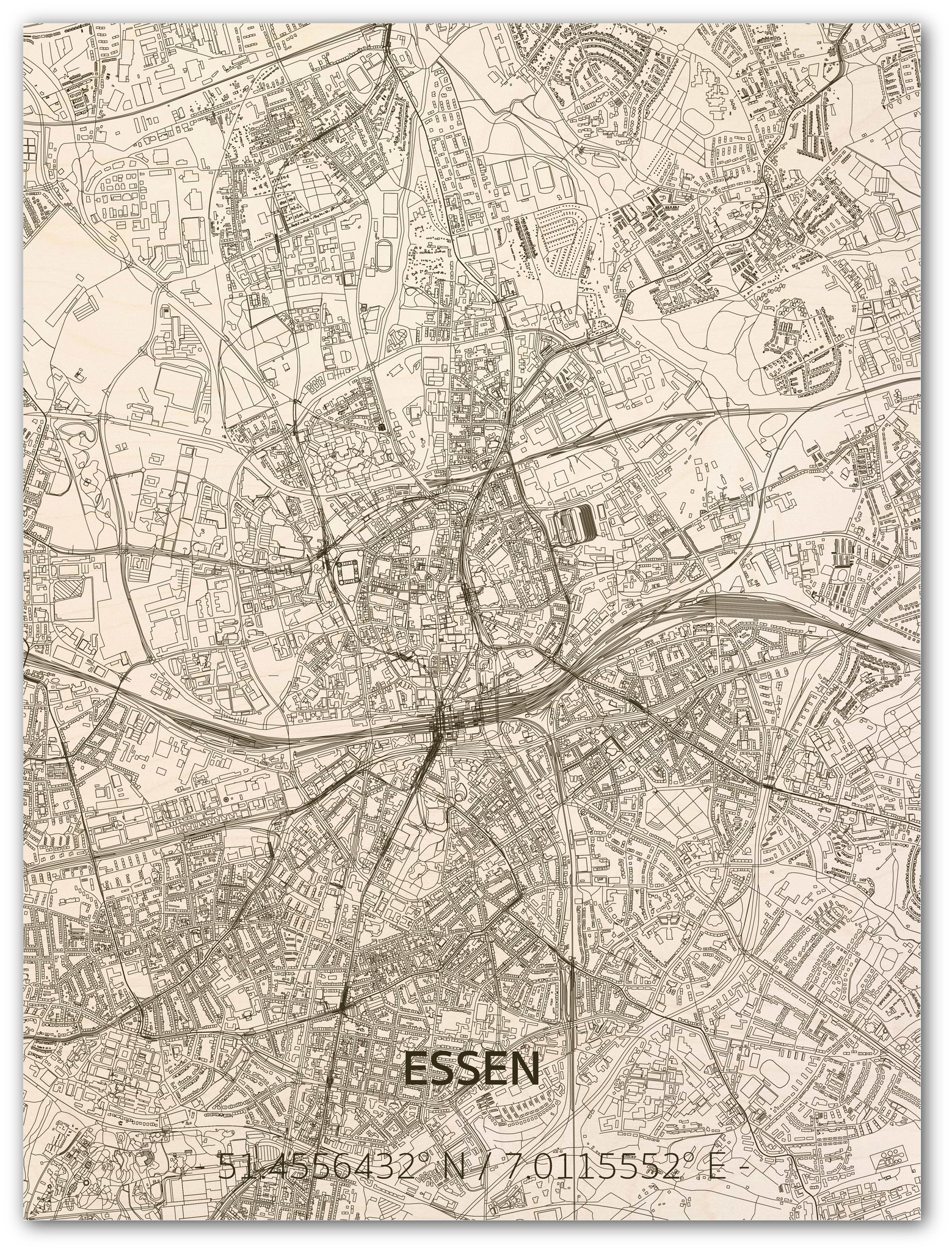 WOODEN WALL DECORATION ESSEN CITYMAP-1