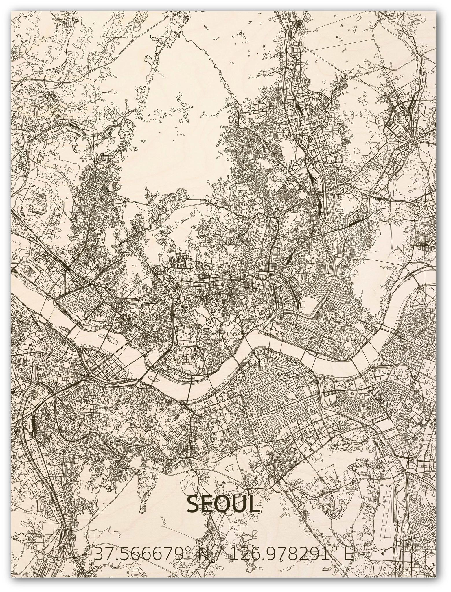 Citymap Seoul | wooden wall decoration-1