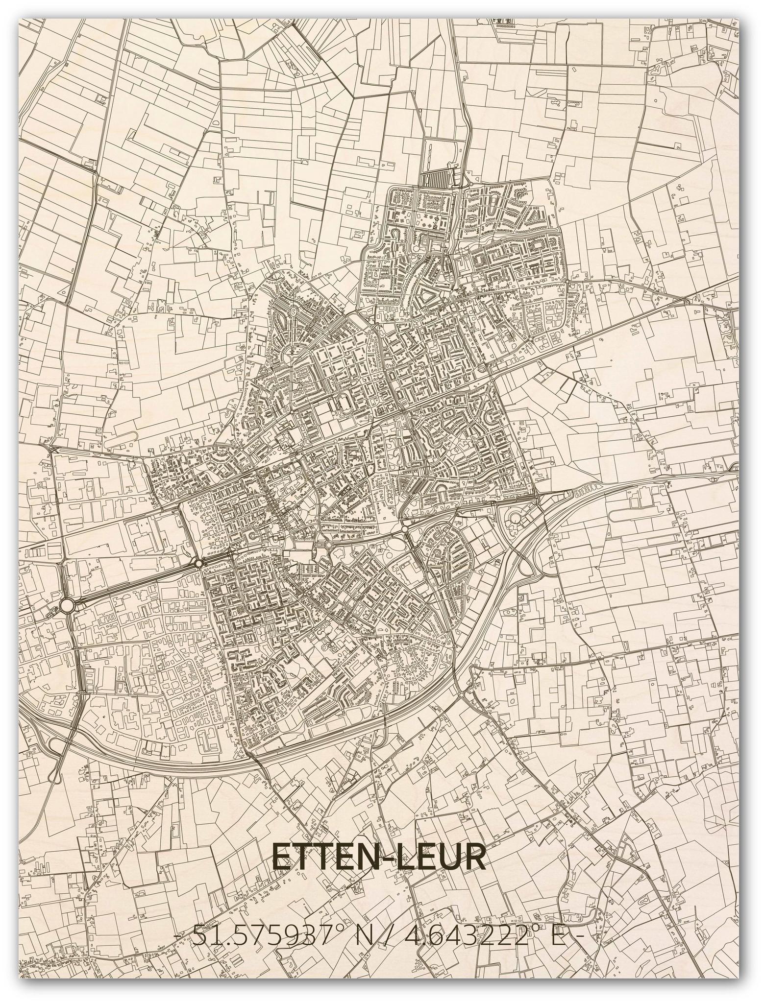 Citymap Etten-Leur | houten wanddecoratie-1