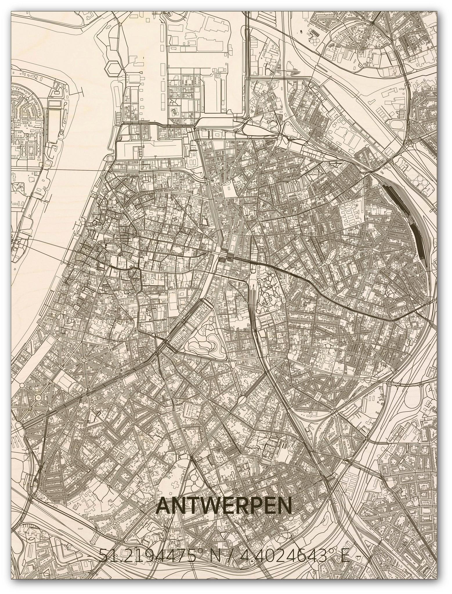 Citymap Antwerpen | wooden wall decoration-1