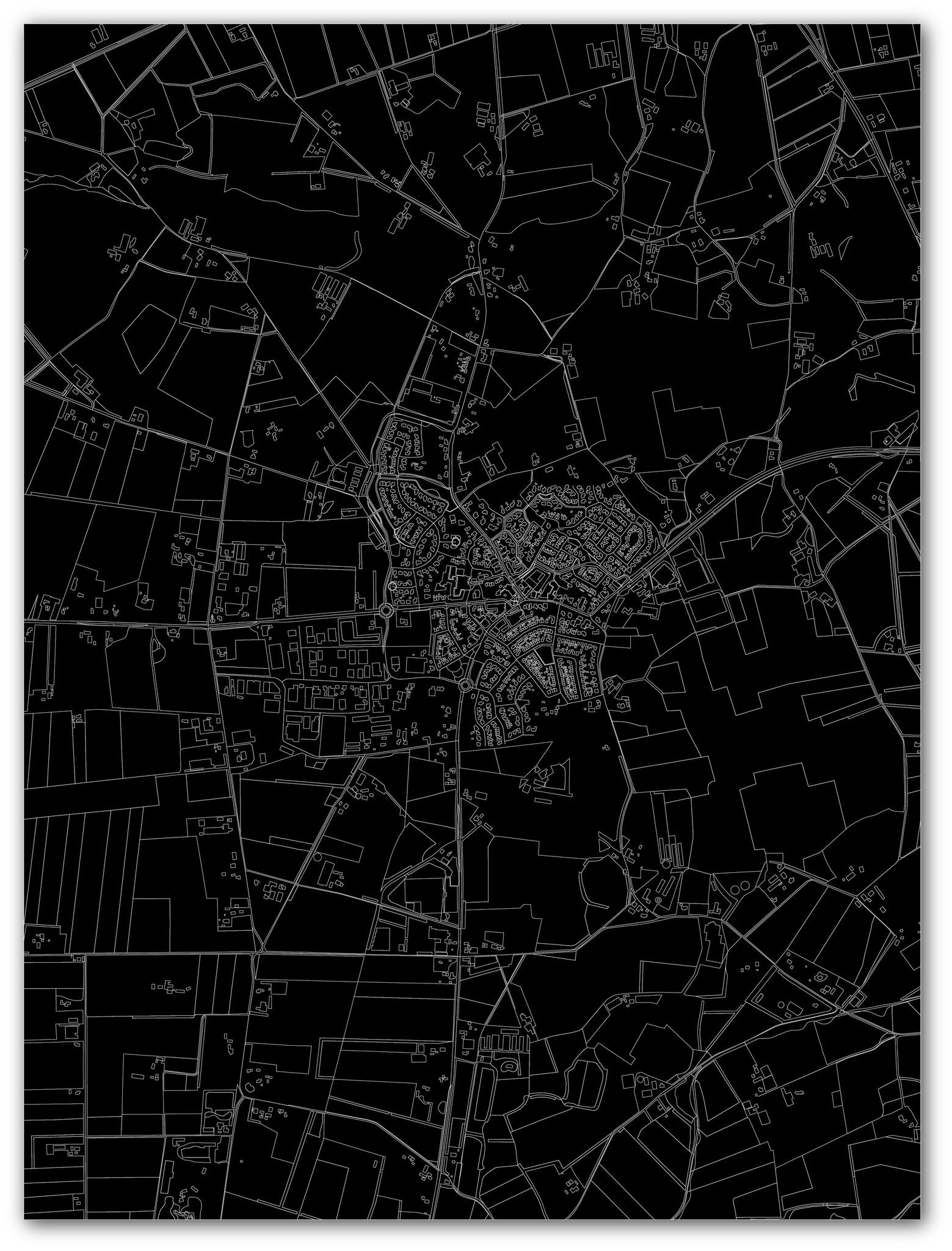 Citymap Geesteren | Aluminium wanddecoratie-4