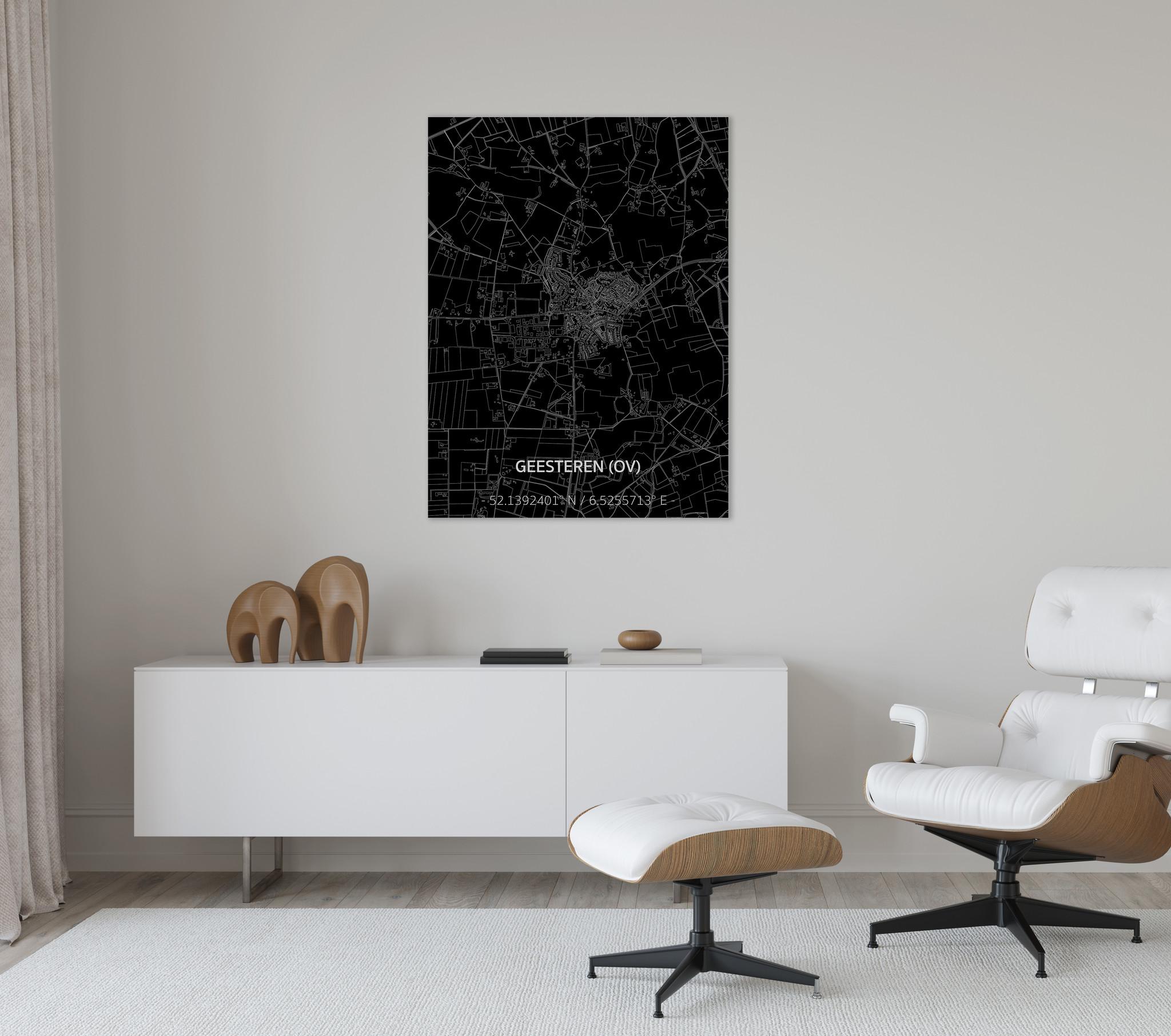 Citymap Geesteren | Aluminium wanddecoratie-2