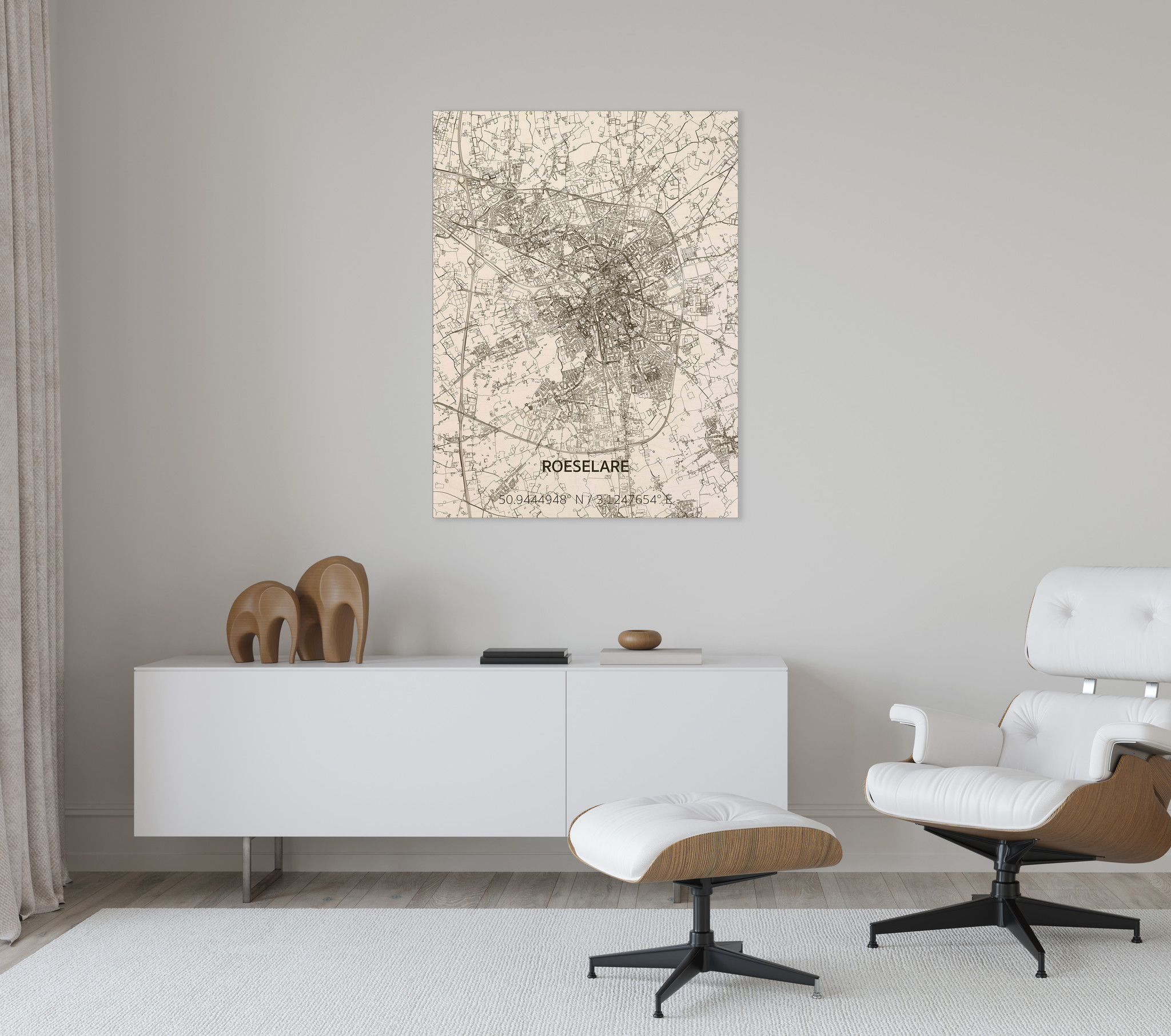 Citymap Roeselare | wooden wall decoration-2