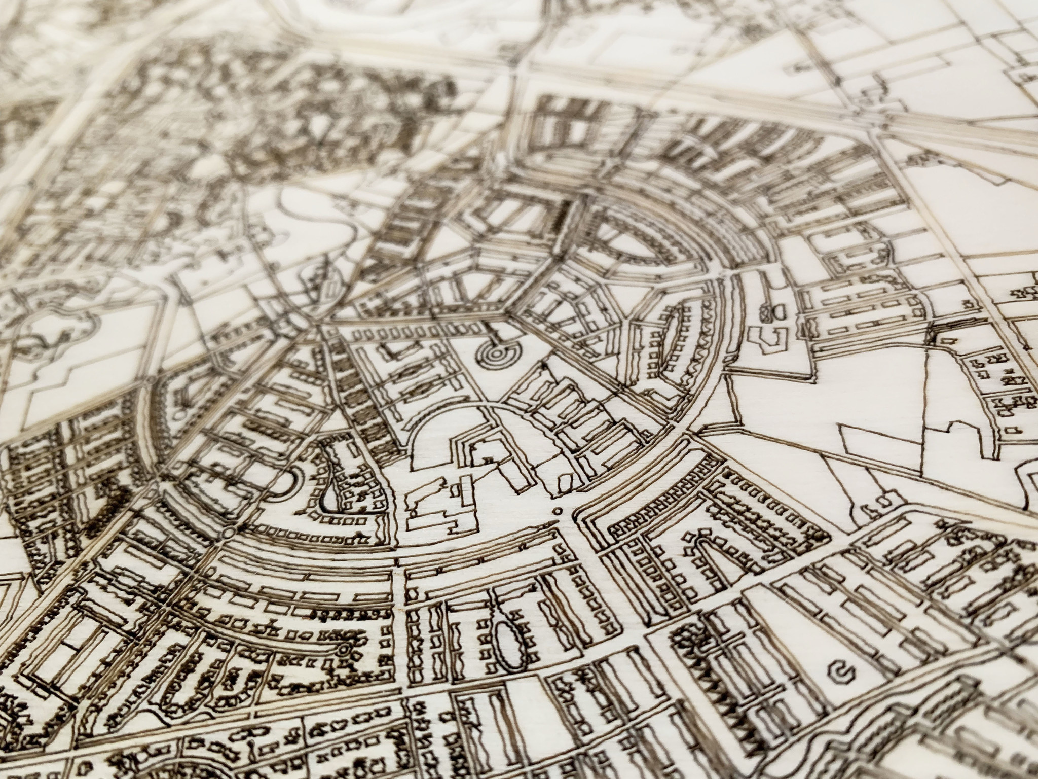 Stadtplan Karlsruhe | Wanddekoration Holz-5