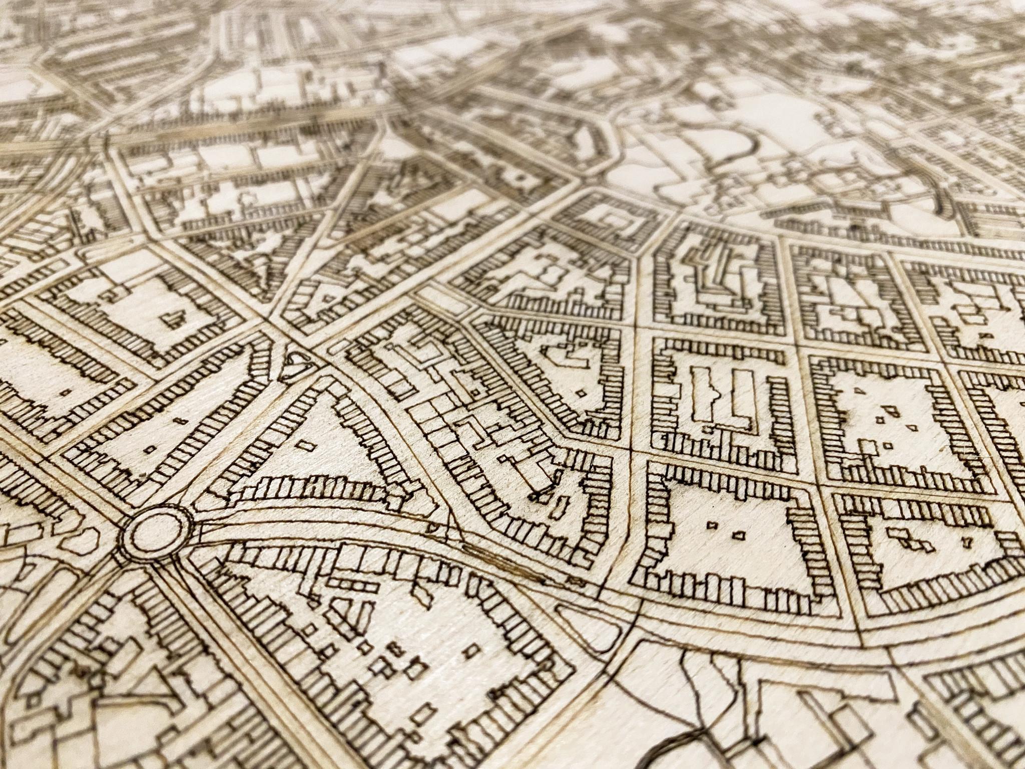 Citymap Antwerpen | wooden wall decoration-4