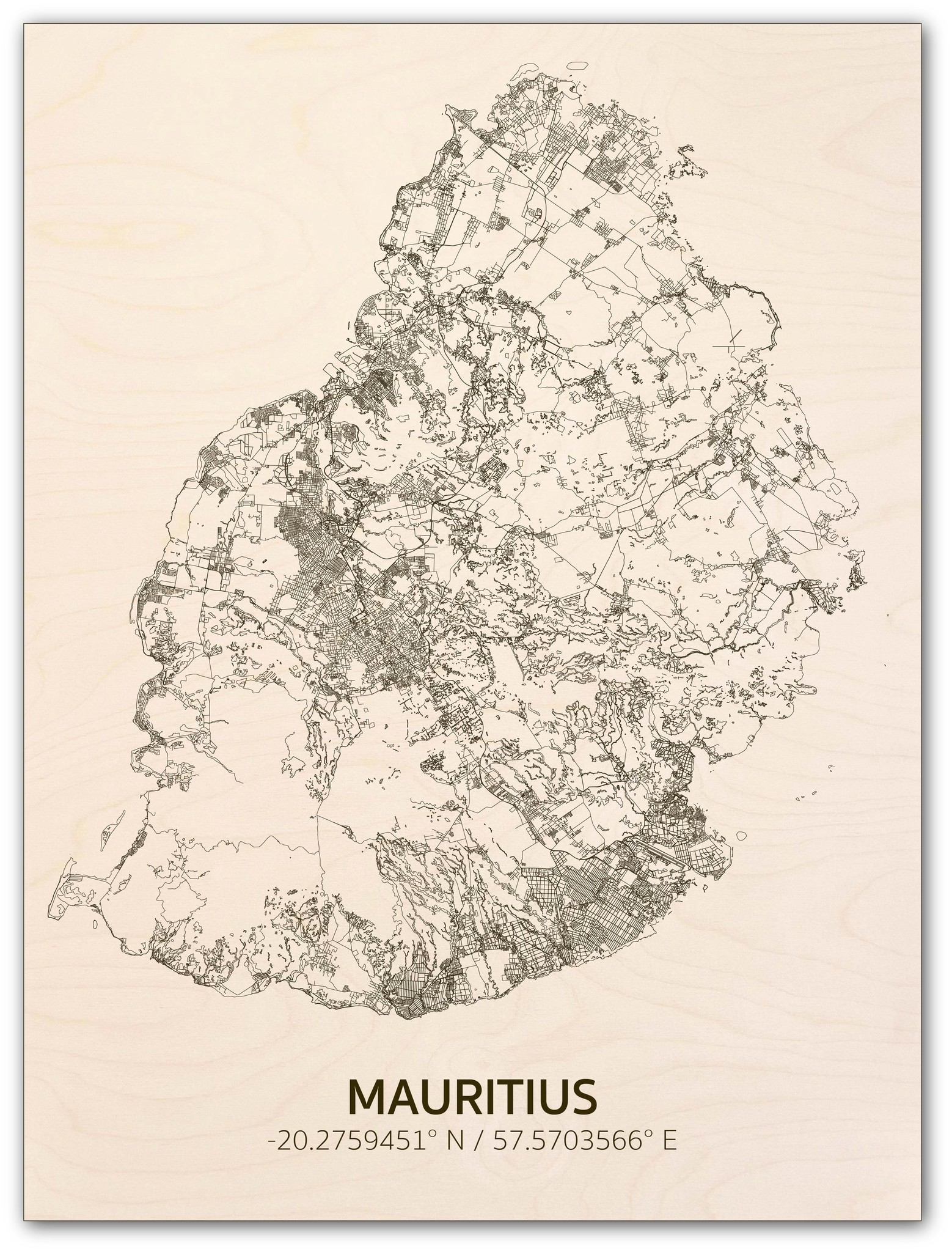 Citymap Mauritius | wooden wall decoration-1