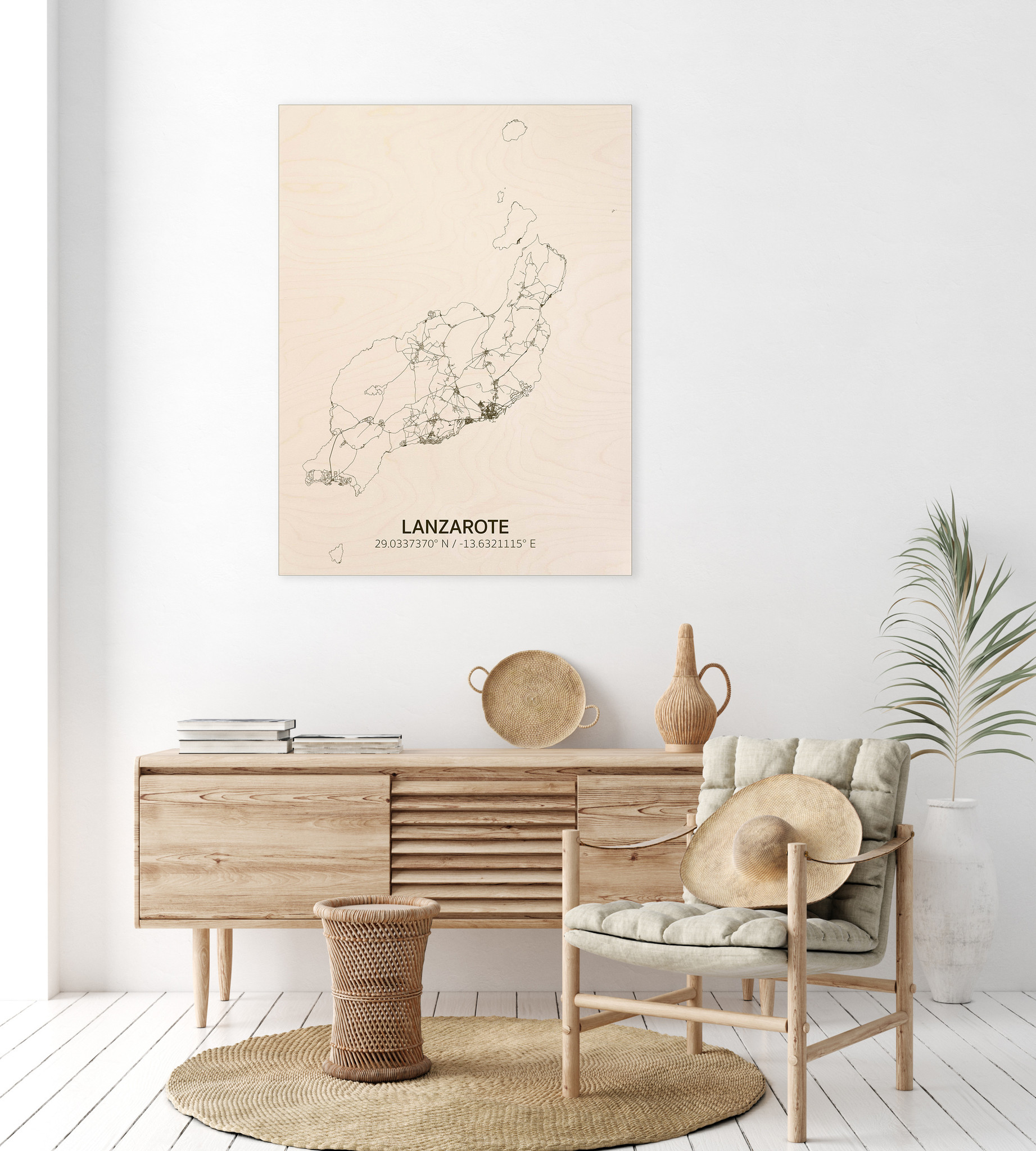 Citymap Lanzarote | wooden wall decoration-2