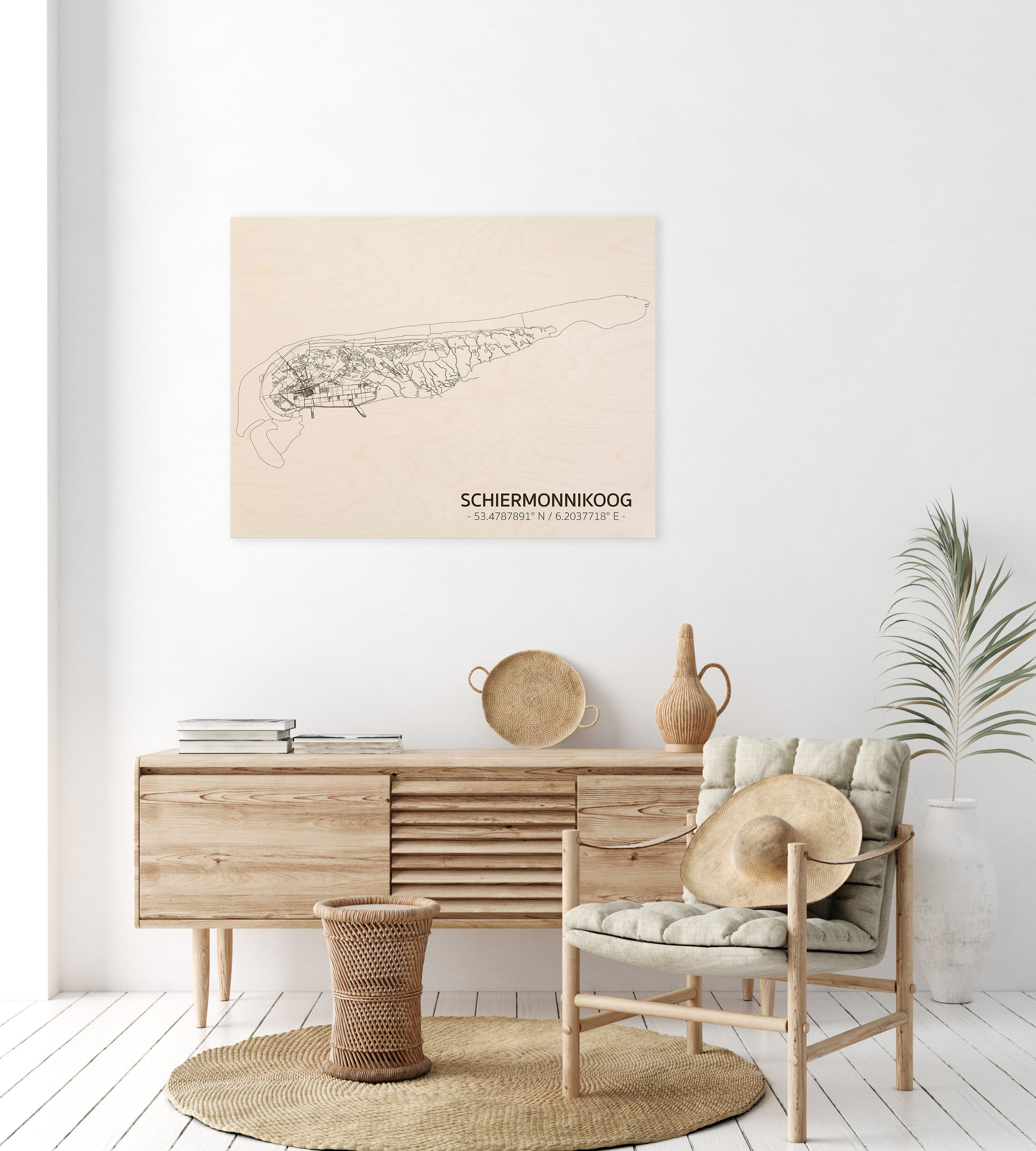 Citymap Schiermonnikoog | wooden wall decoration-2