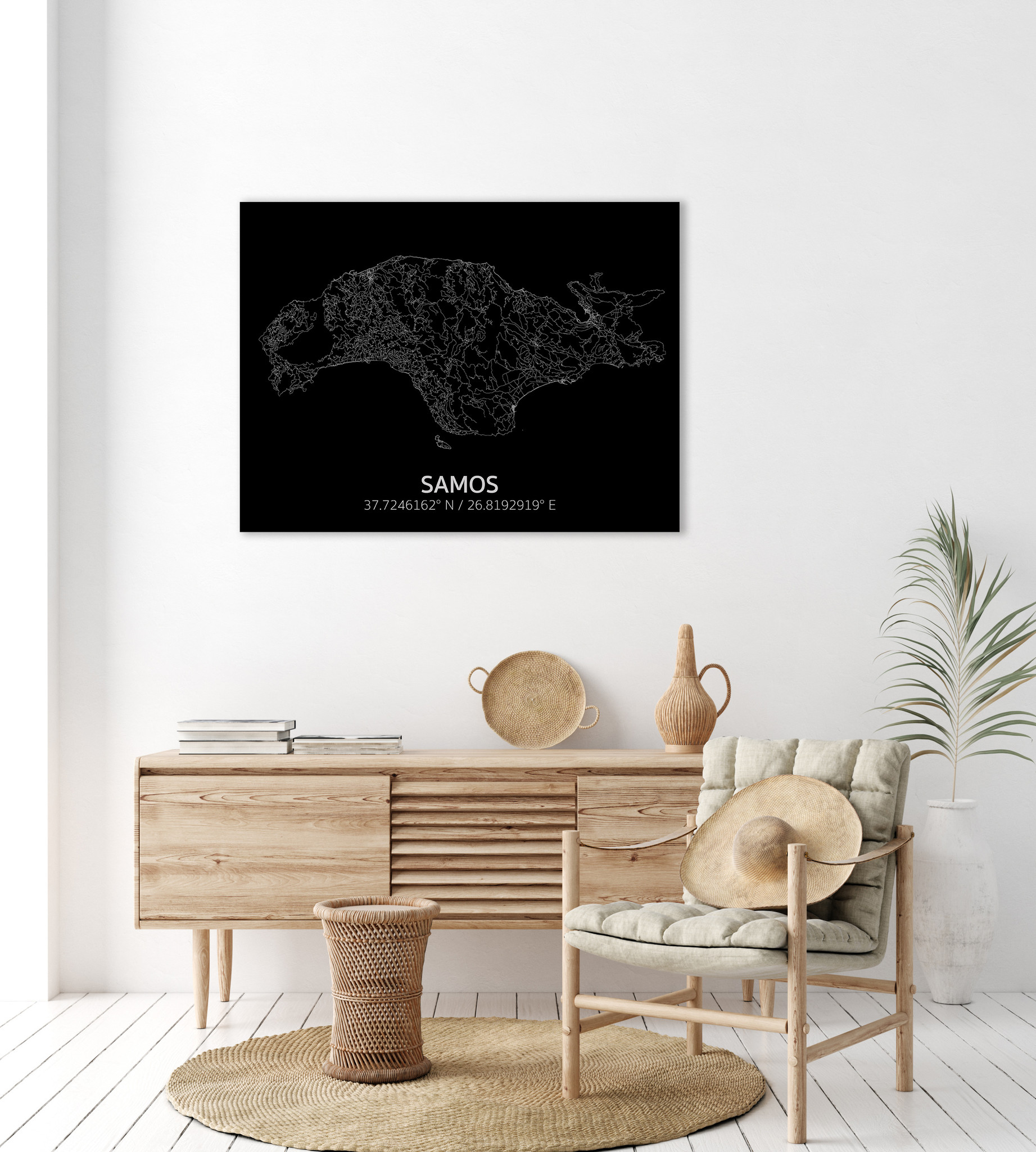 Citymap Samos | Aluminum wall decoration-2