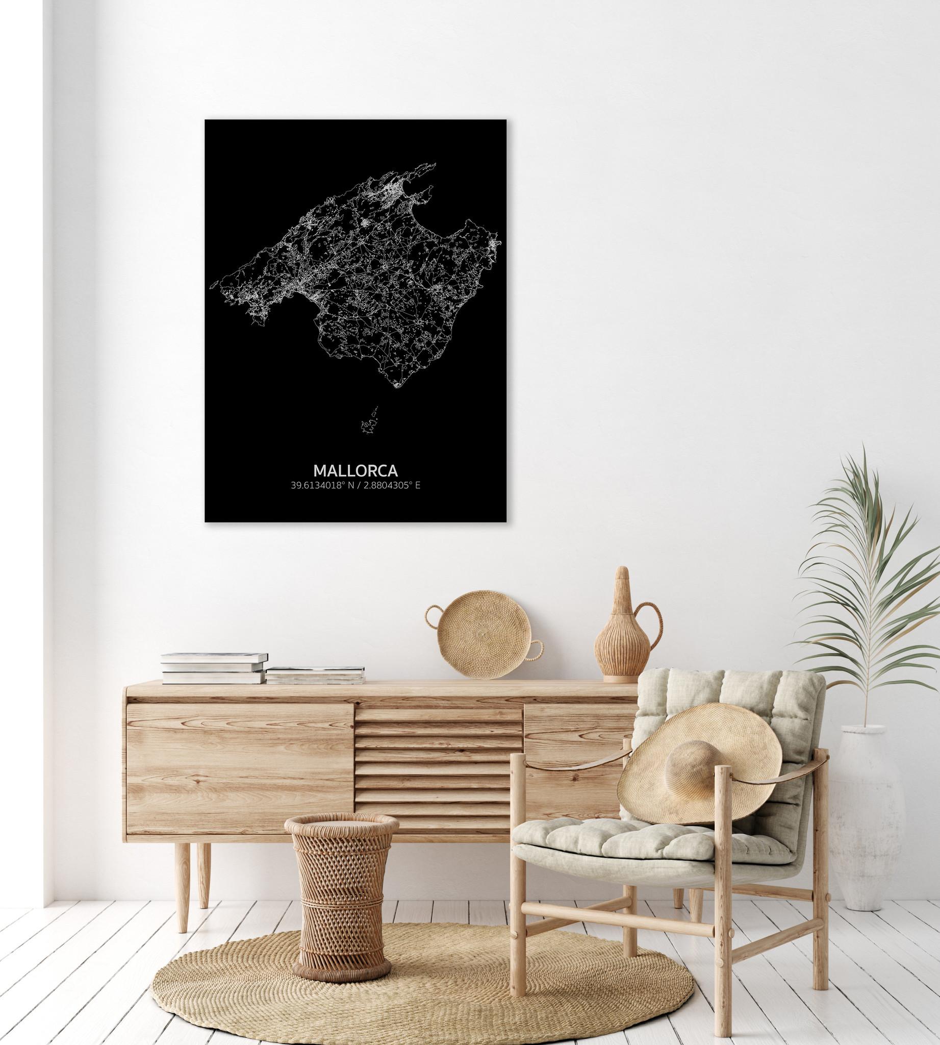 Citymap Mallorca | Aluminium wanddecoratie-2