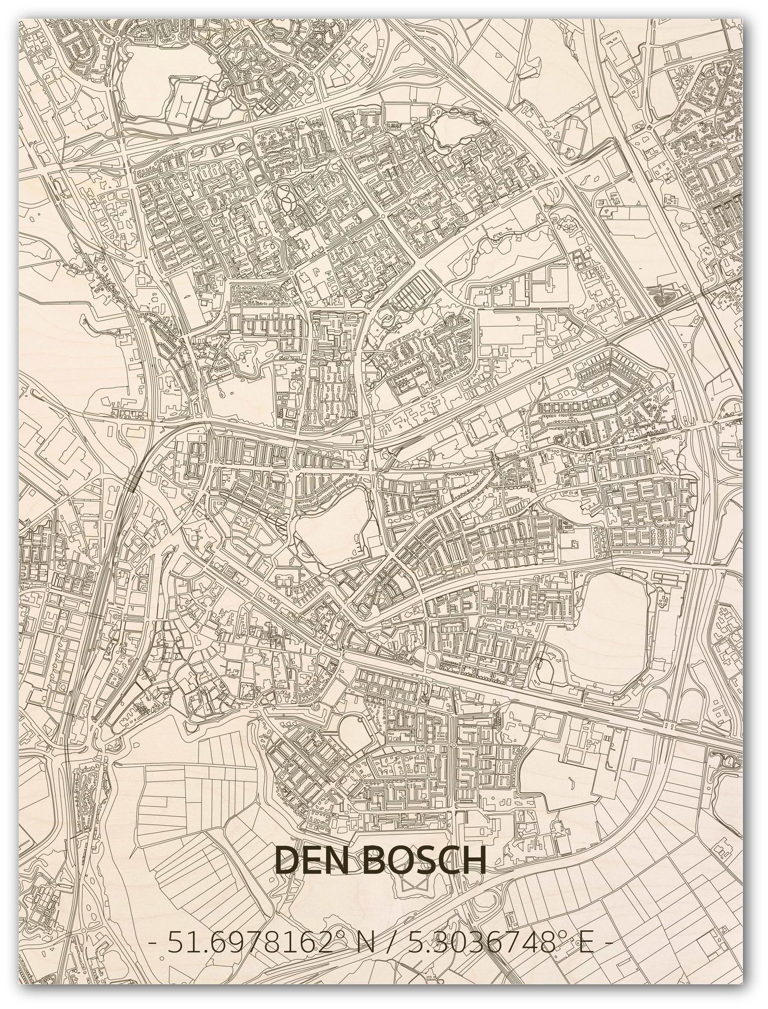 Citymap Den Bosch | houten wanddecoratie-1