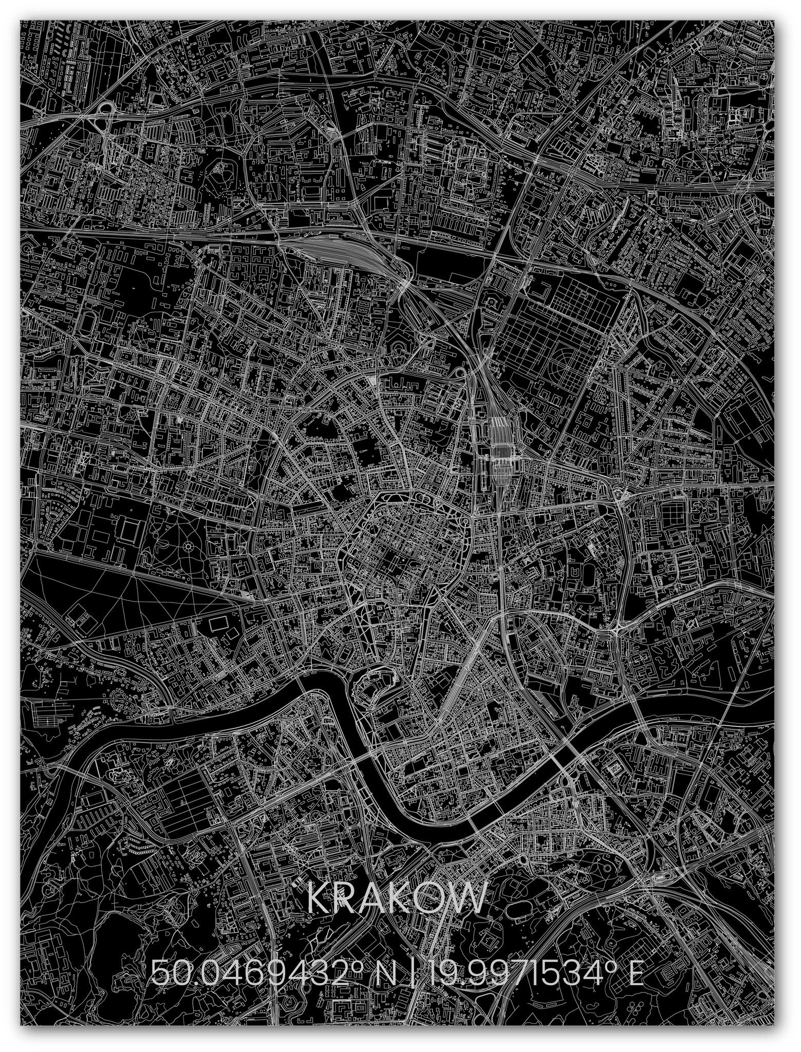 Stadtkarte Metal Krakau-1