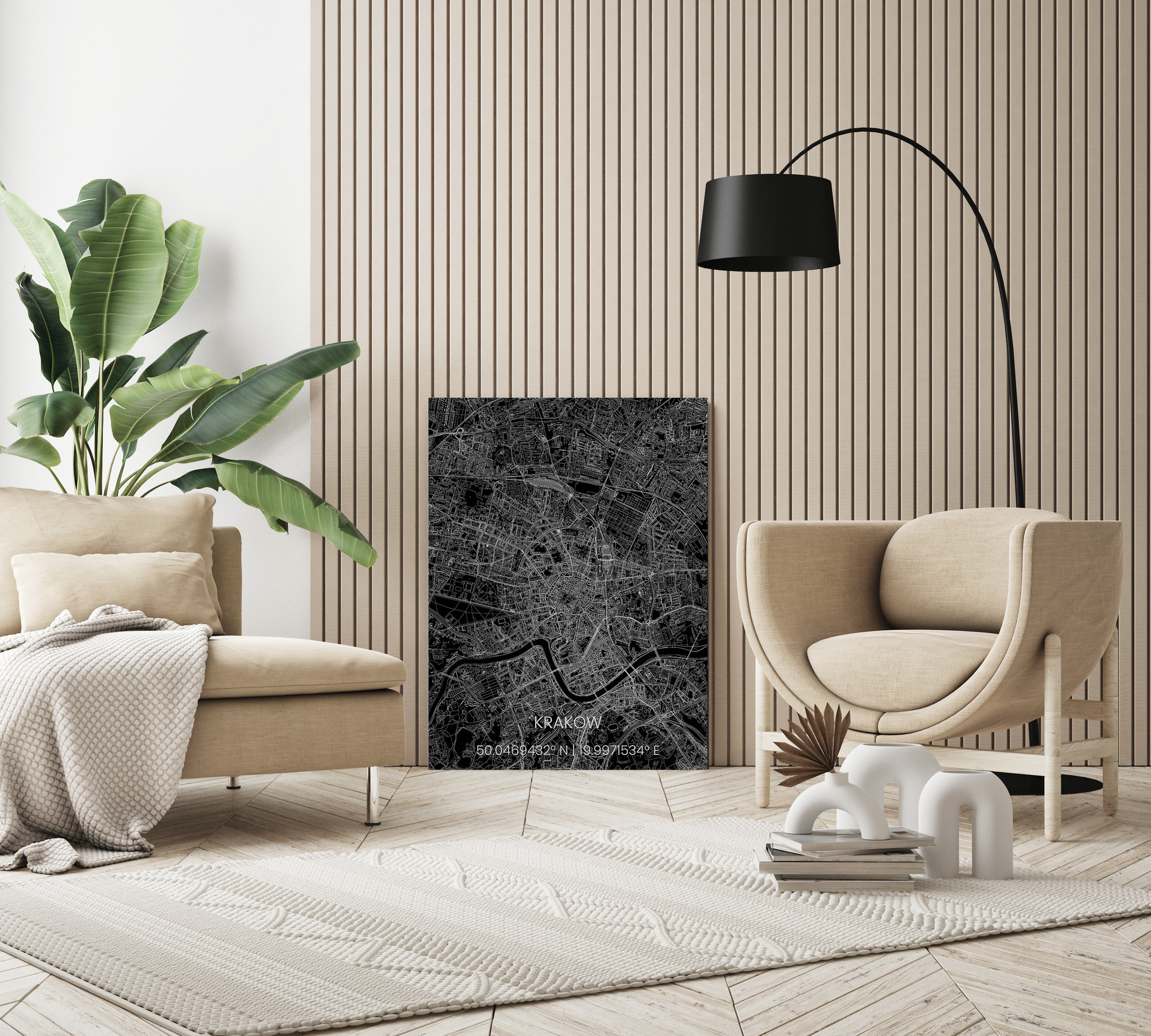 Stadtkarte Metal Krakau-2