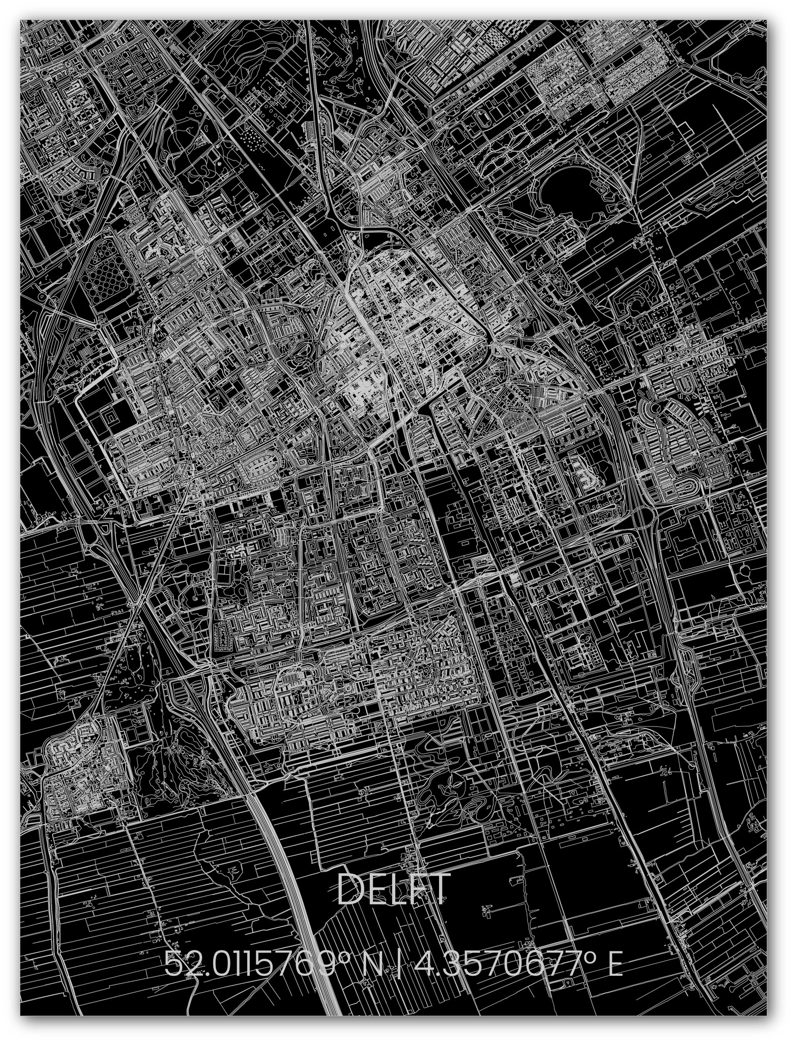 Stadtkarte Metal Delft-1