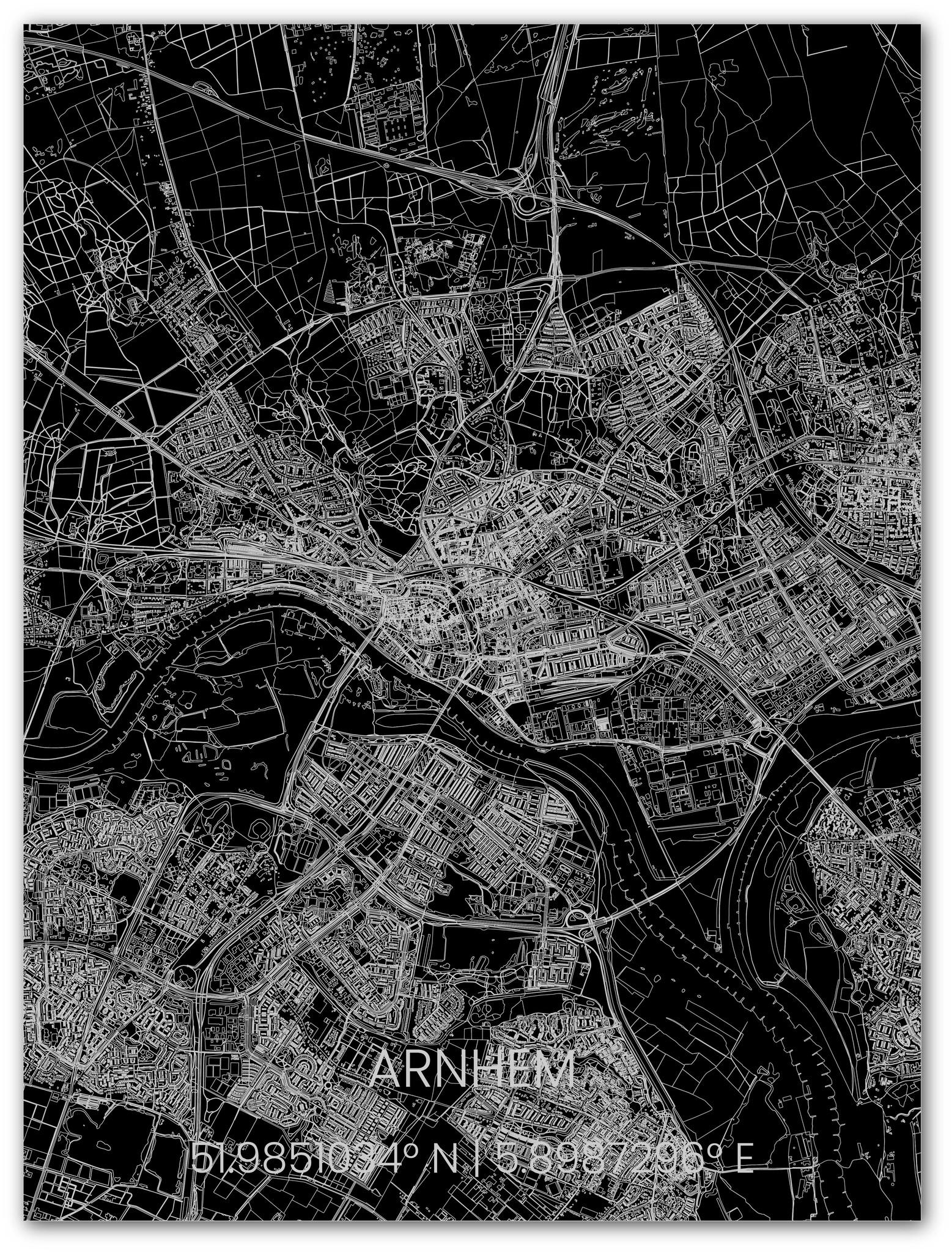 Metal citymap Arnhem-1
