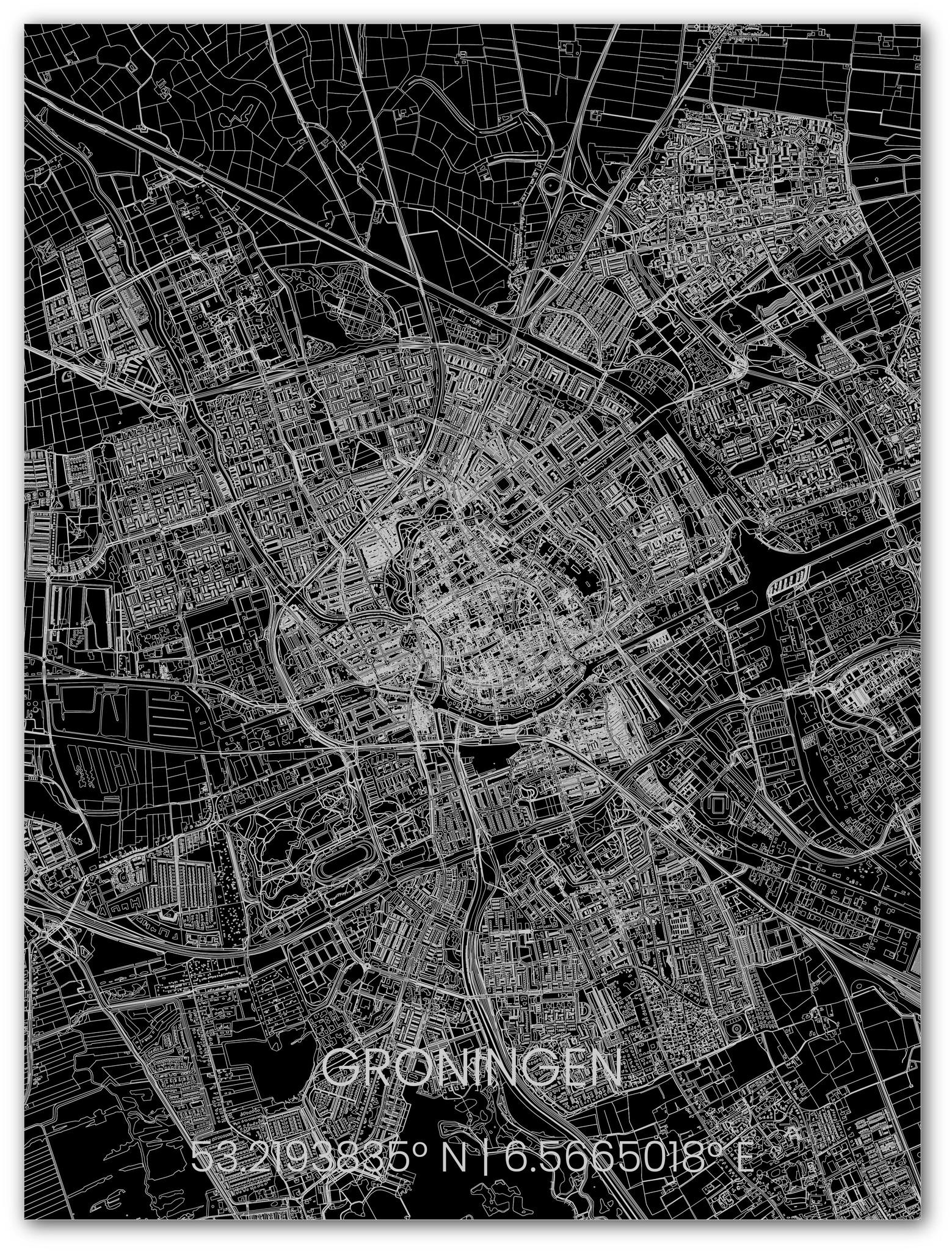 Metal citymap Groningen-1