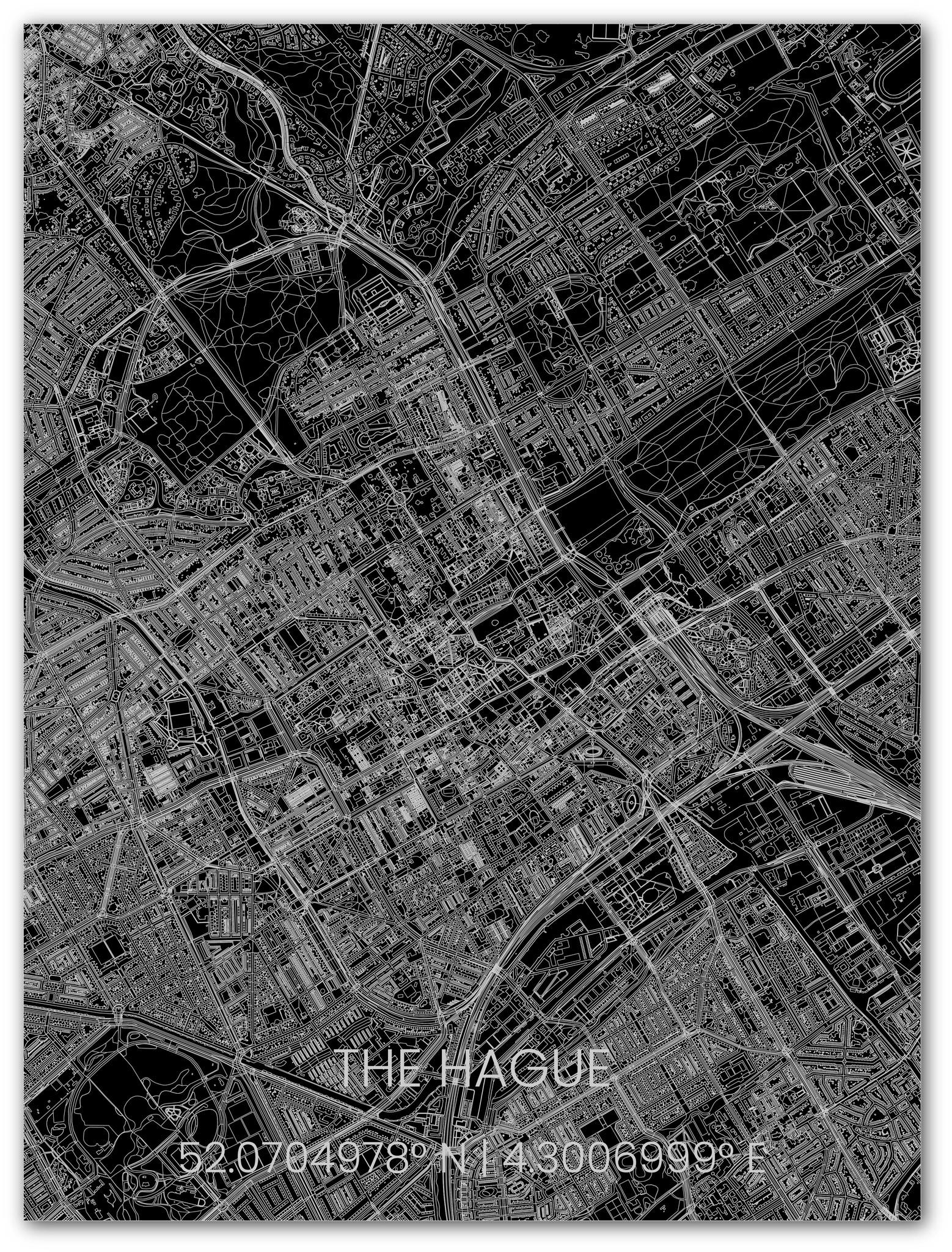 Metalen stadsplattegrond Den Haag-1