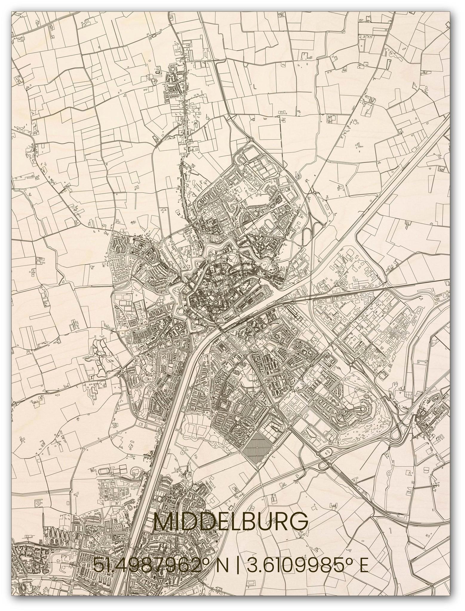 Hölzerner Stadtplan Middelburg-1
