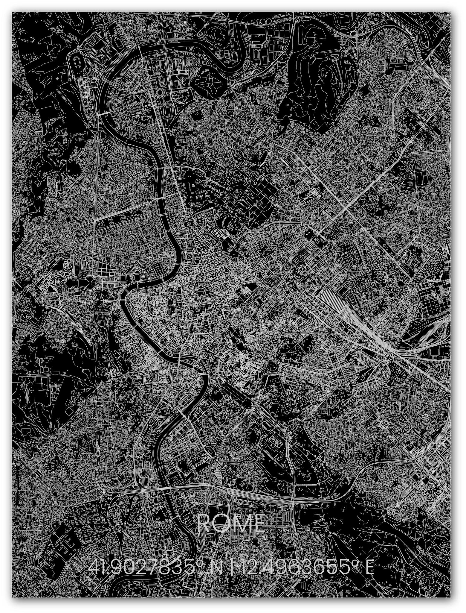 Metalen stadsplattegrond Rome-1