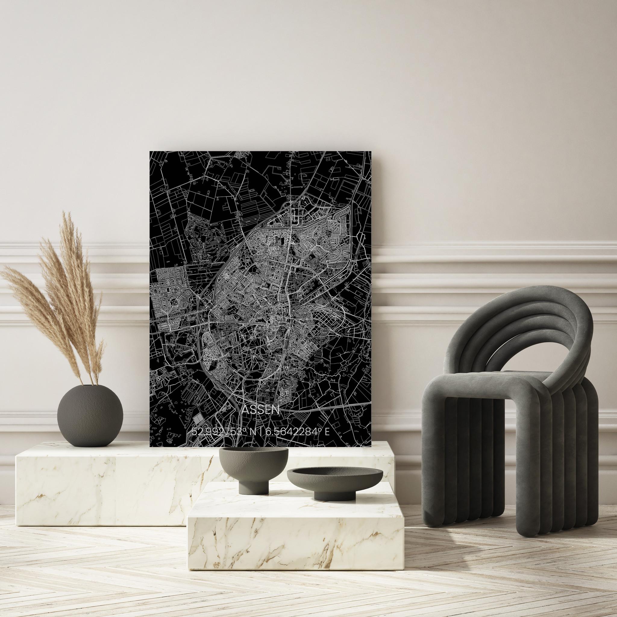 Metalen stadsplattegrond Assen-2
