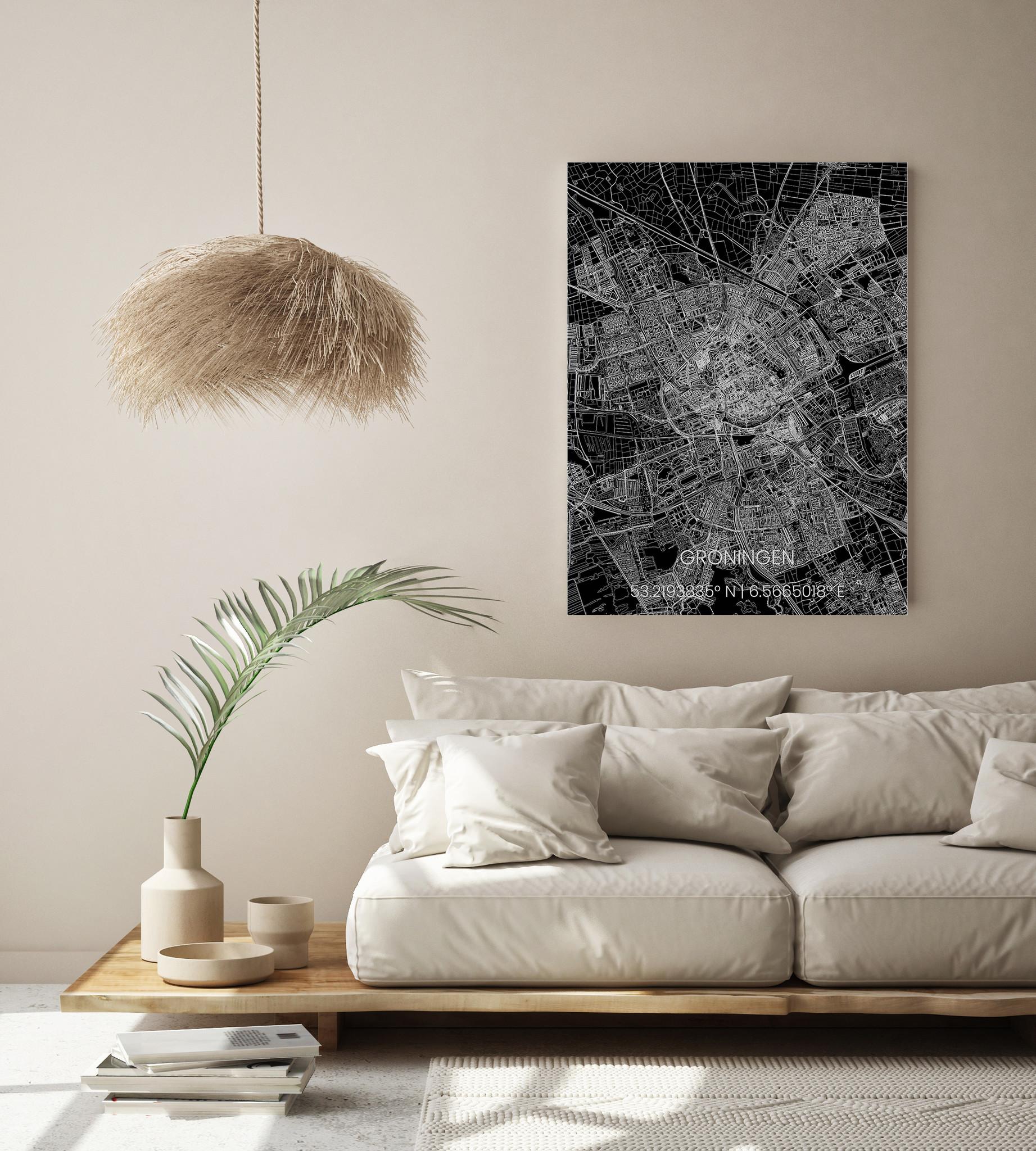 Metal citymap Groningen-2