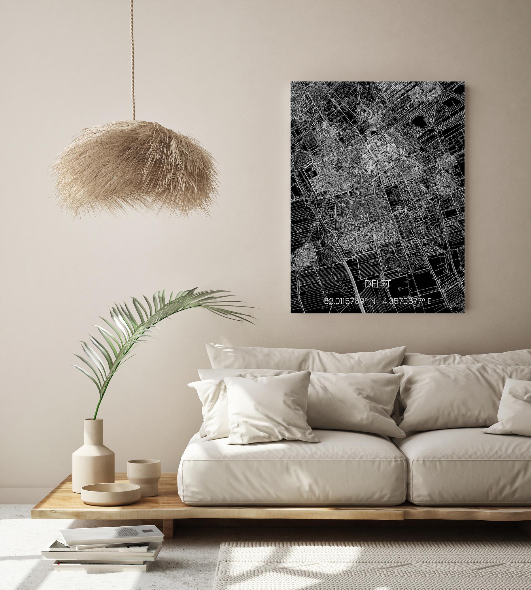Stadtkarte Metal Delft-2