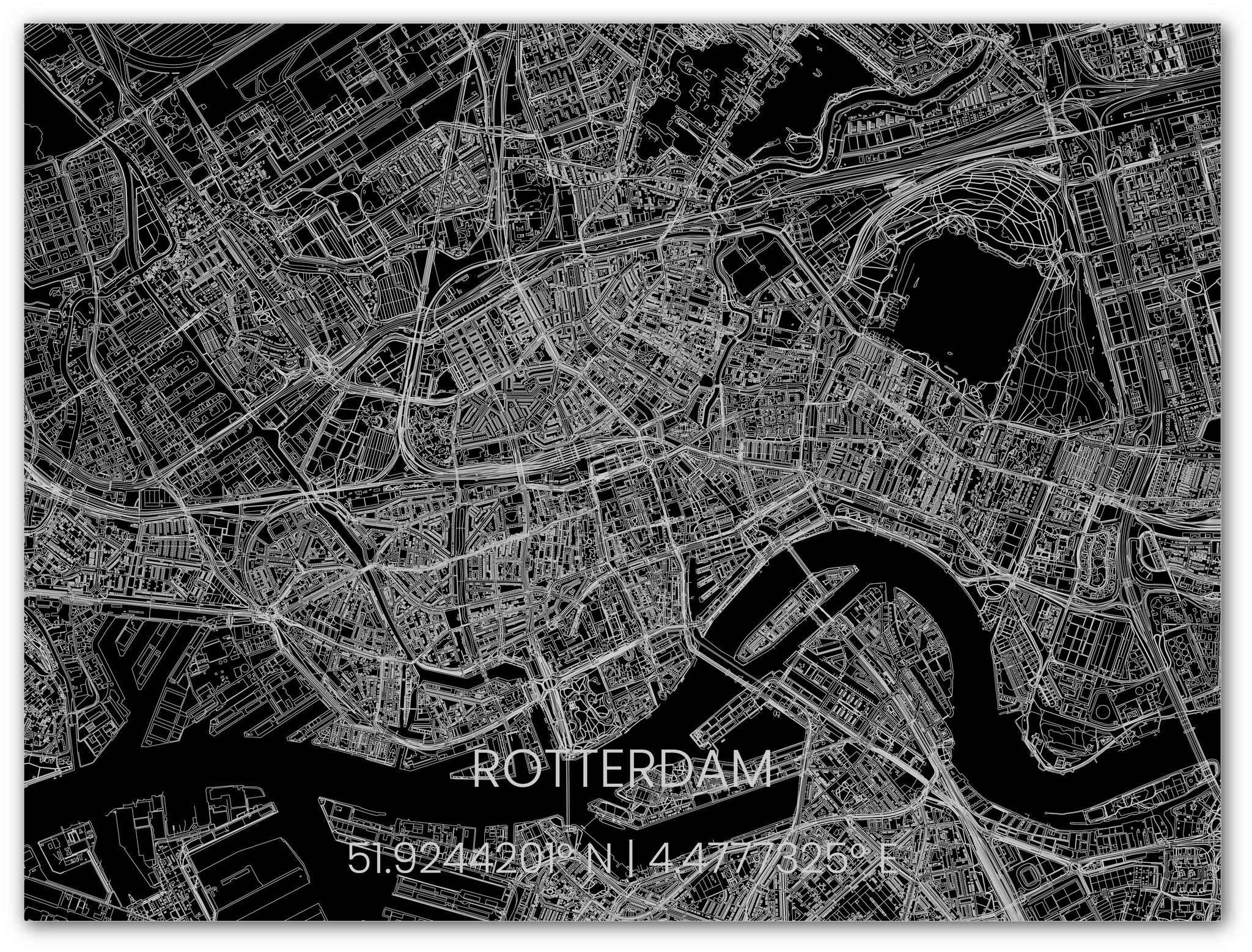 Metalen stadsplattegrond Rotterdam-2