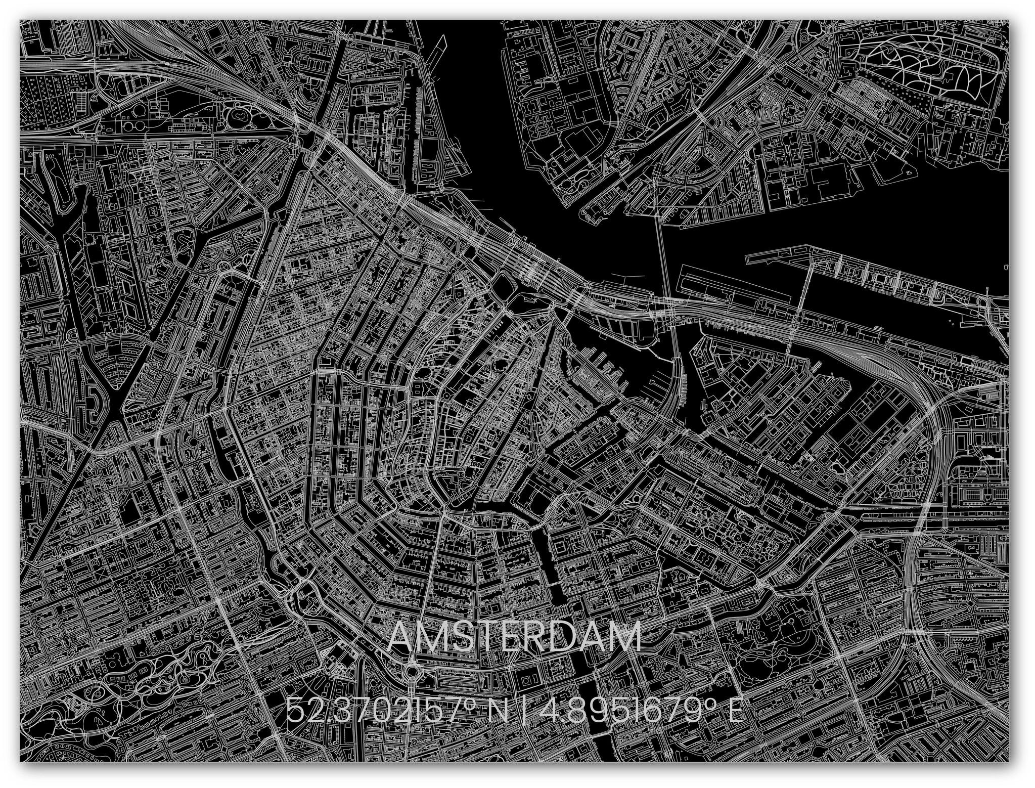 Stadtkarte Metal Amsterdam-3