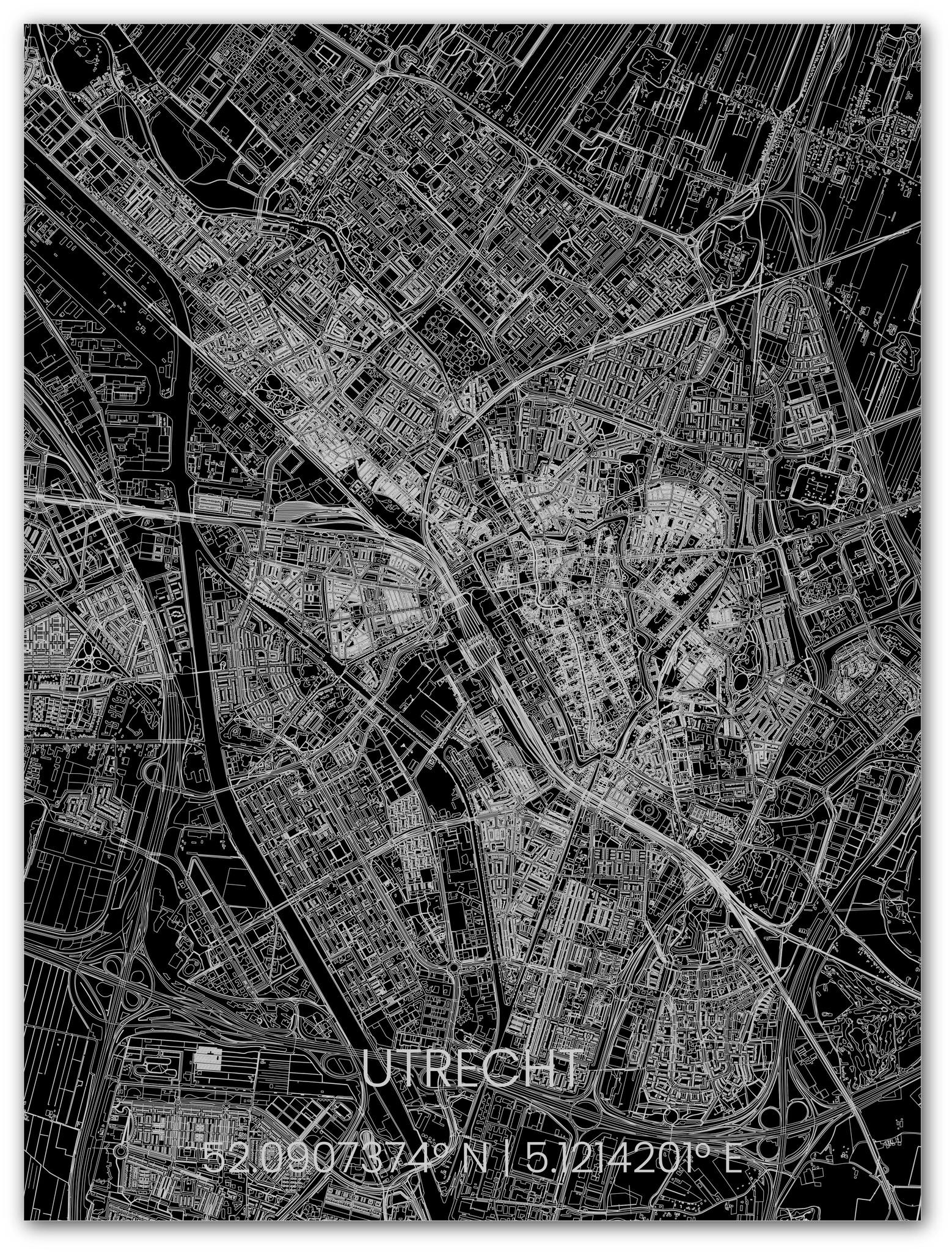 Metal citymap Utrecht-1