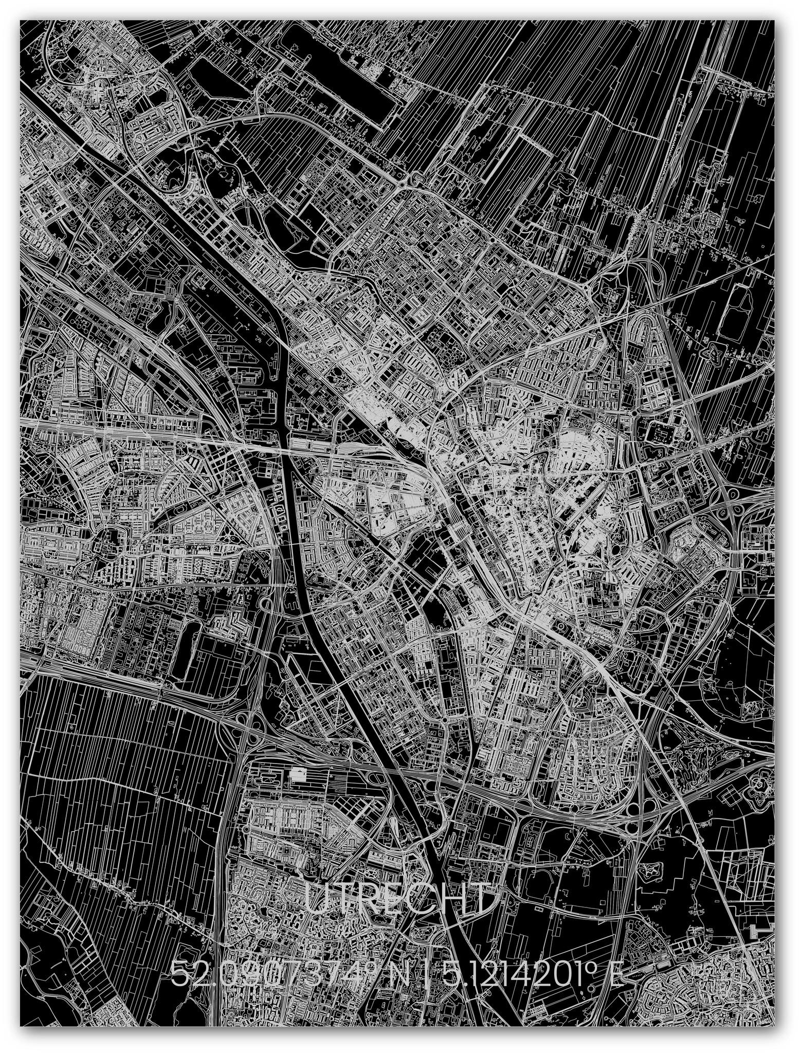 Stadsplattegrond Utrecht XL-2