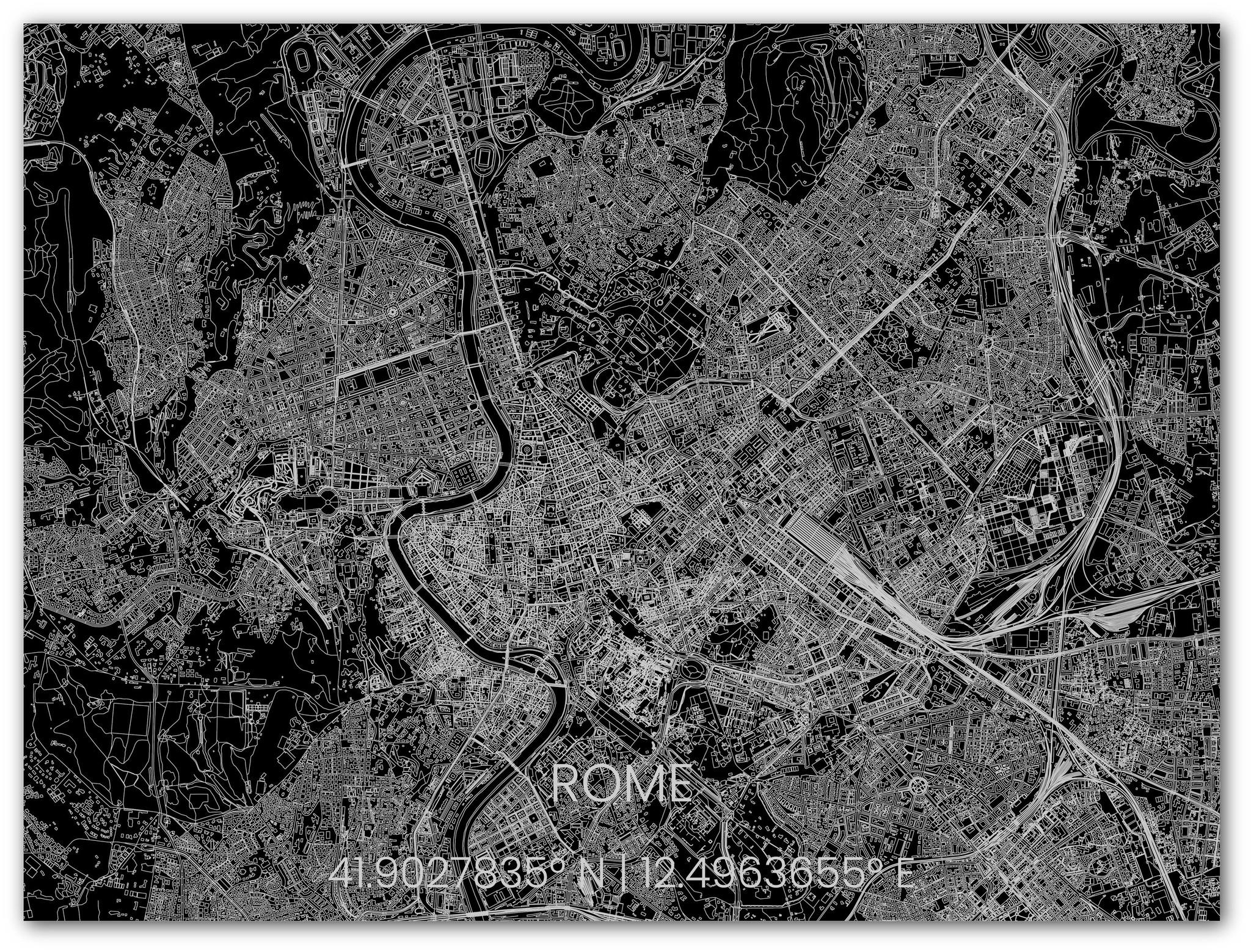 Metalen stadsplattegrond Rome-2