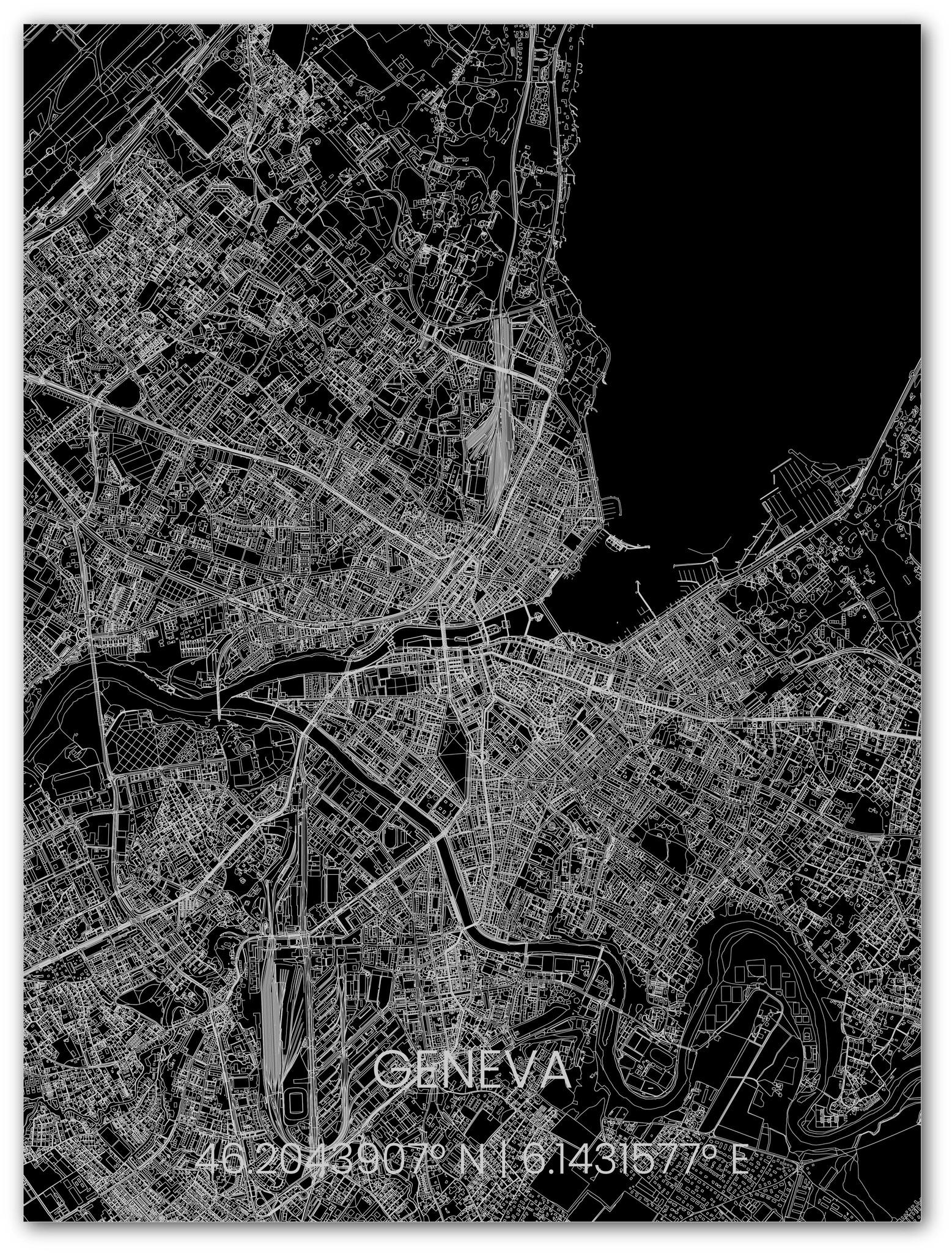 Metal citymap Geneva-1