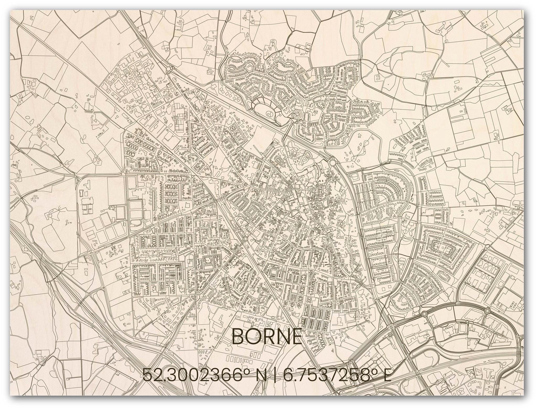Hölzerner Stadtplan Borne-3