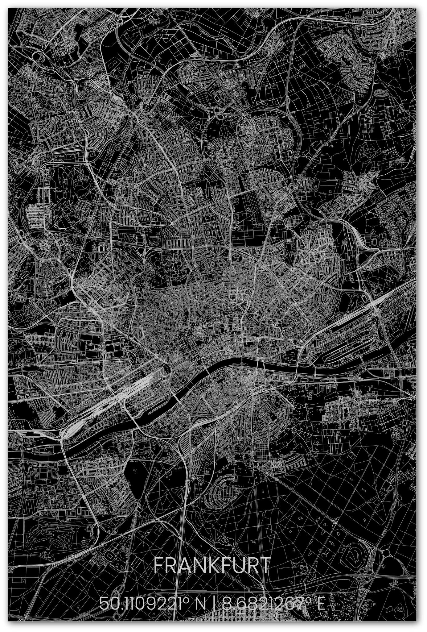 Stadsplattegrond Frankfurt XL-3