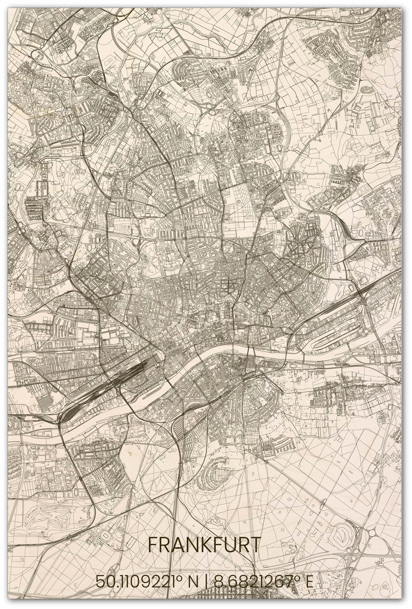Stadsplattegrond Frankfurt XL-1