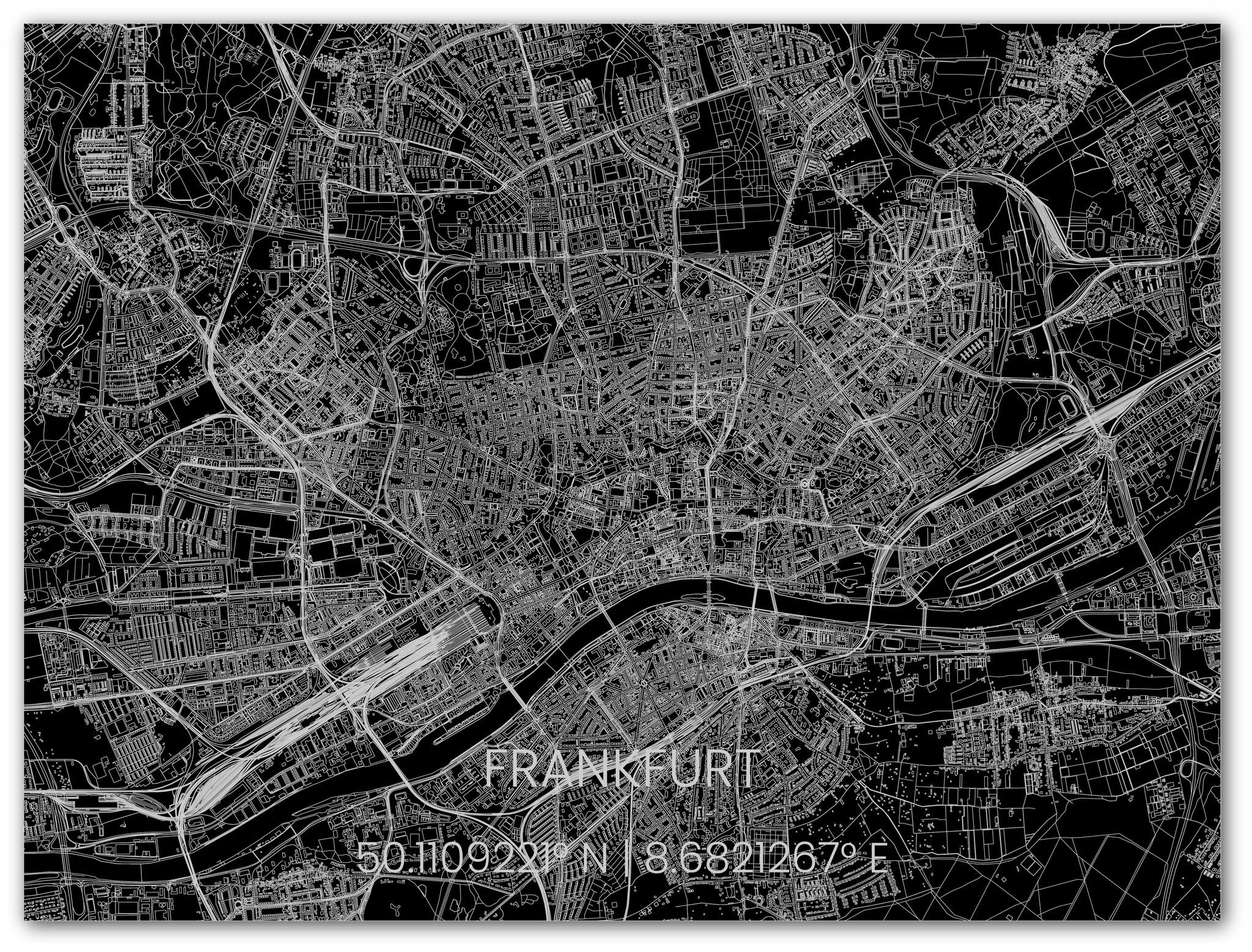 Stadtkarte Metal Frankfurt-3