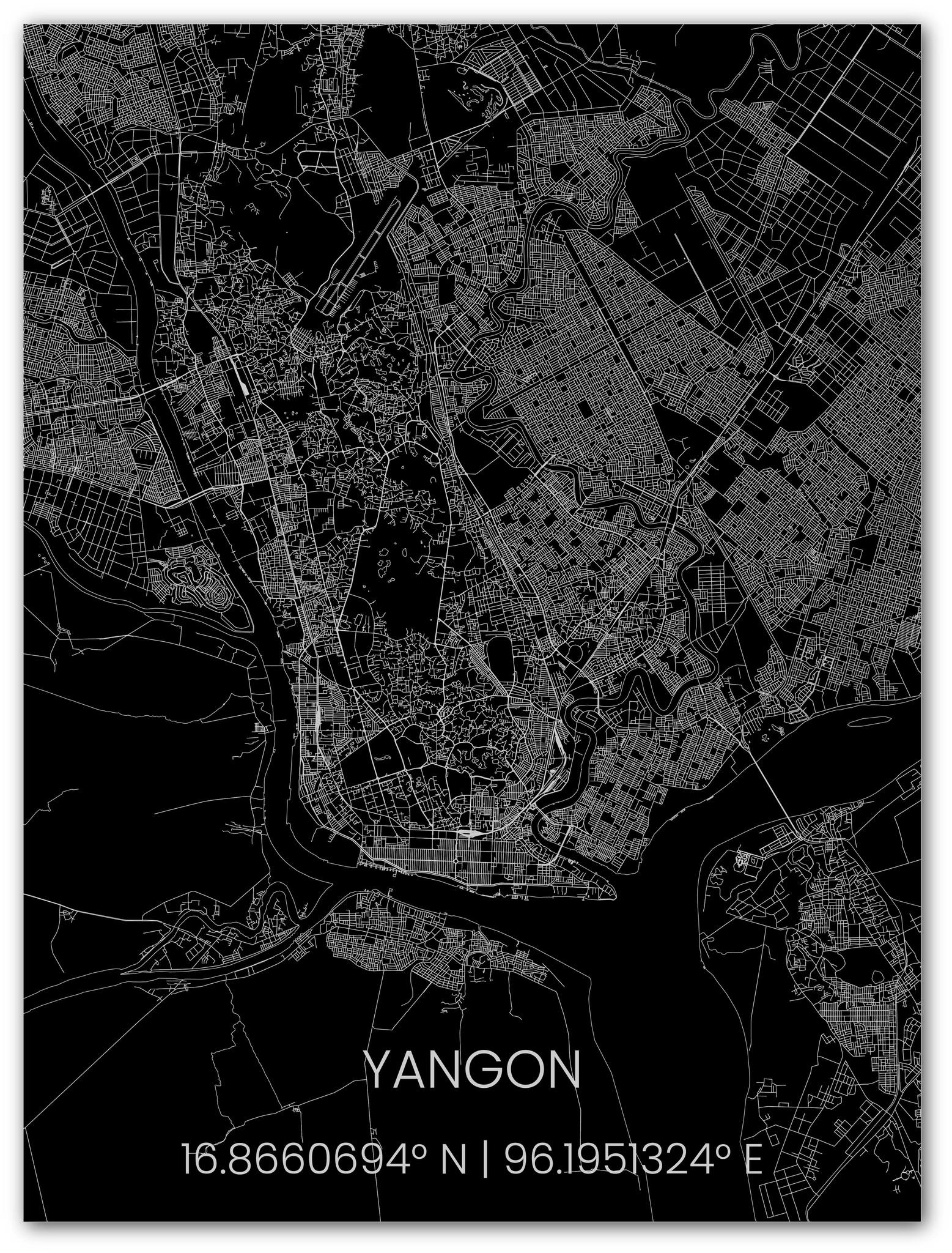 Metal citymap Yangon-1