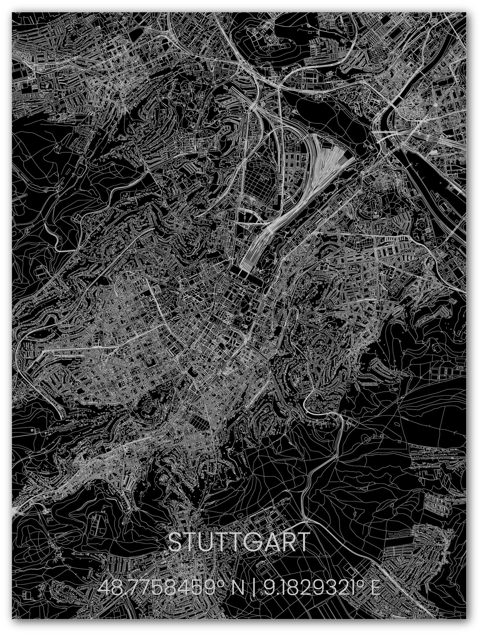 Metal citymap Stuttgart-1