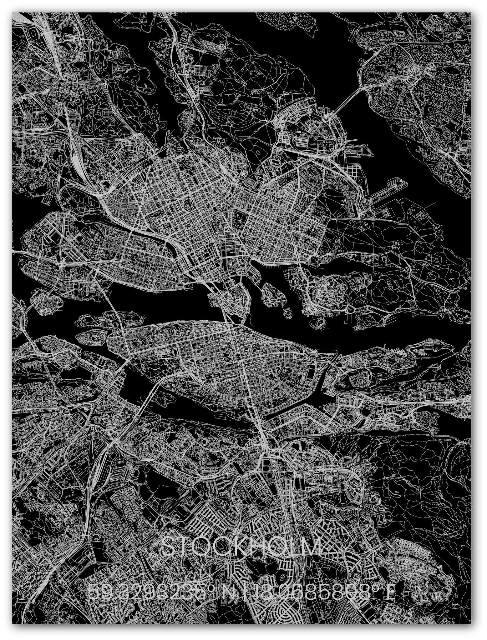 Metal citymap Stockholm-1