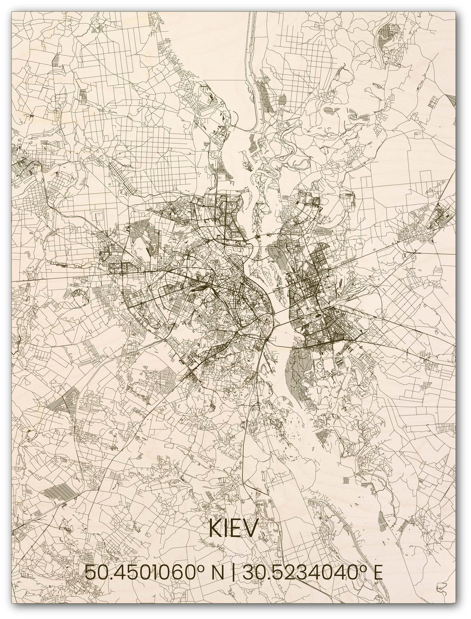 Houten stadsplattegrond Kiev-1