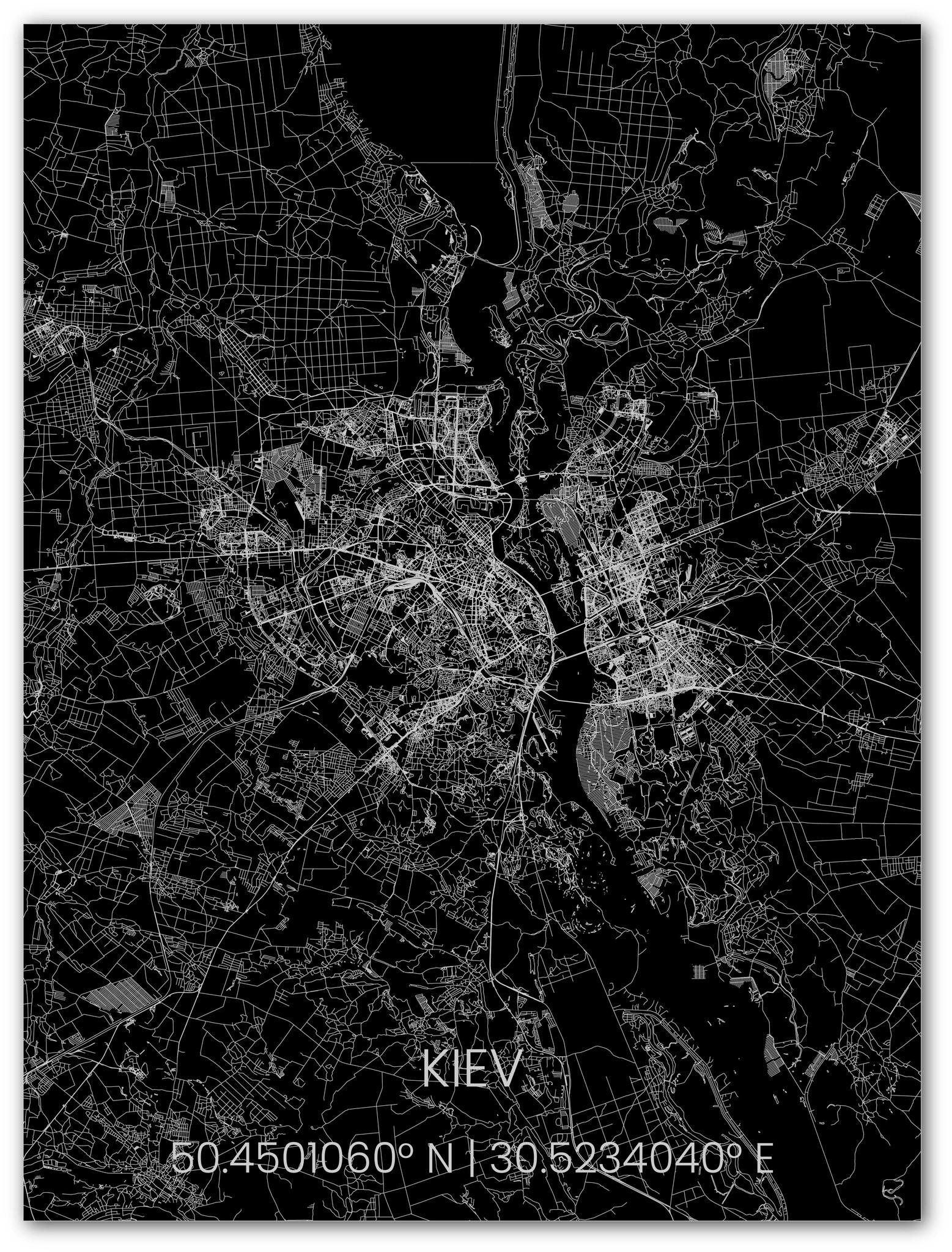 Stadtkarte Metal Kiev-1