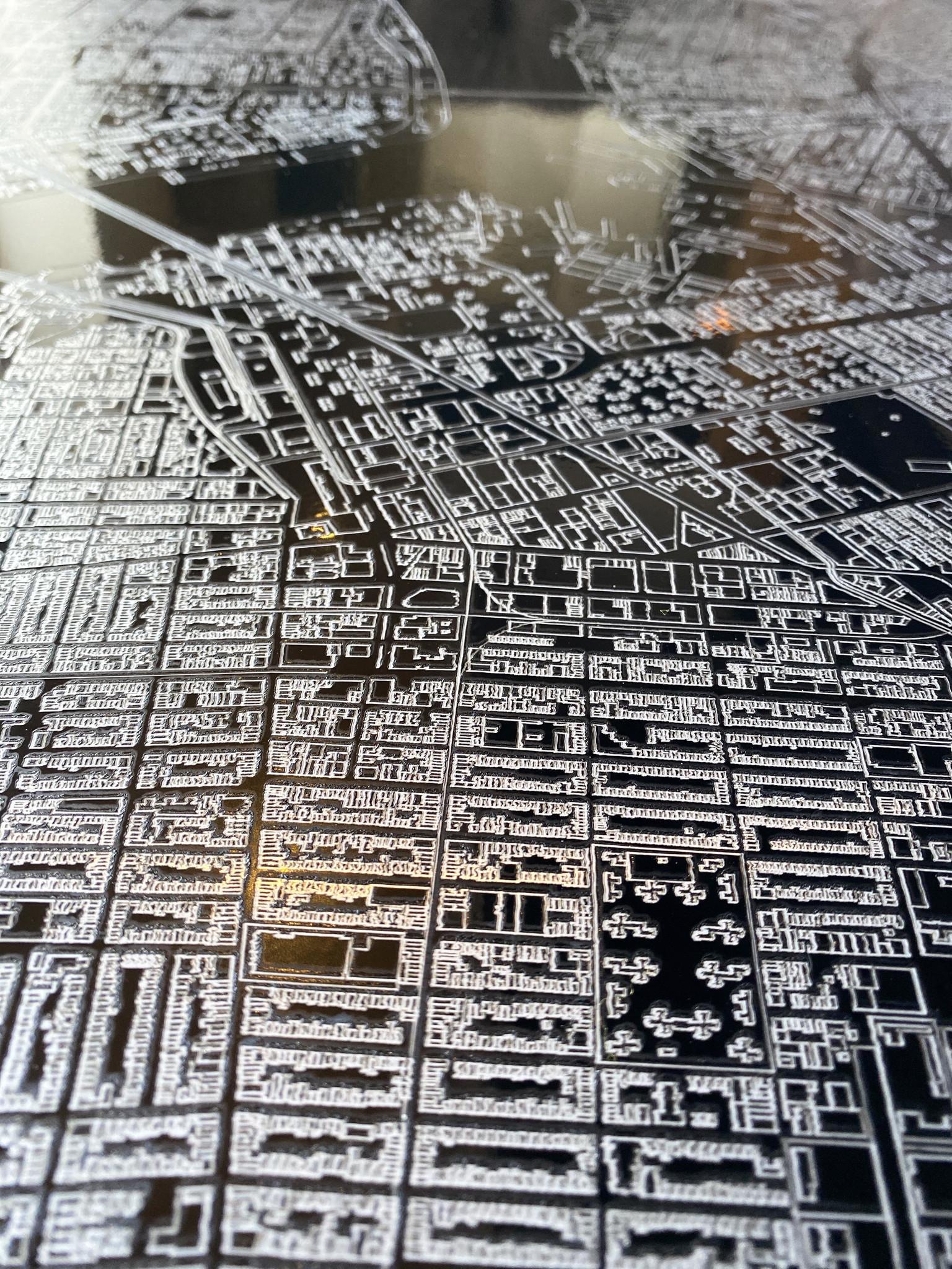Metalen stadsplattegrond Londen-5