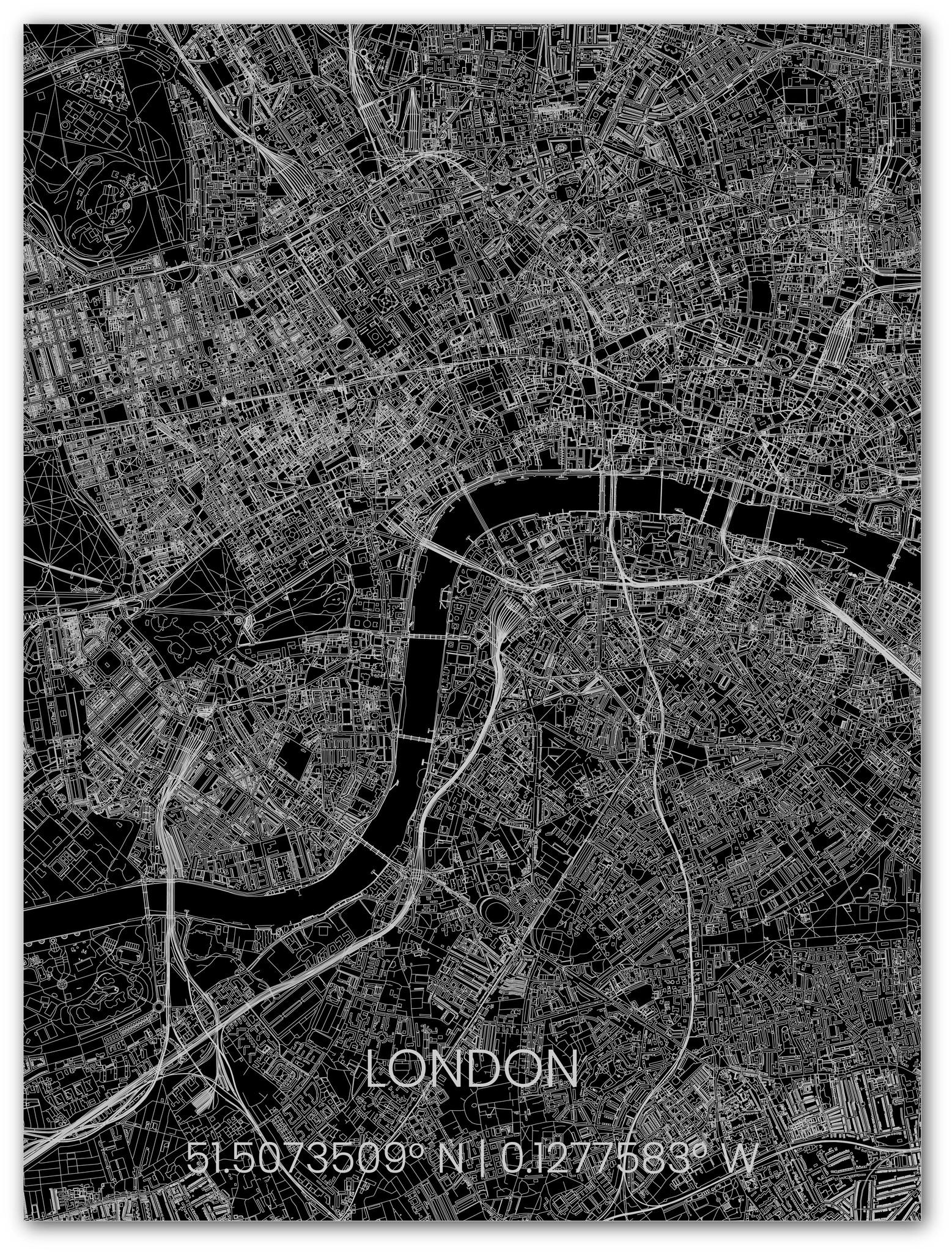 Metalen stadsplattegrond Londen-1