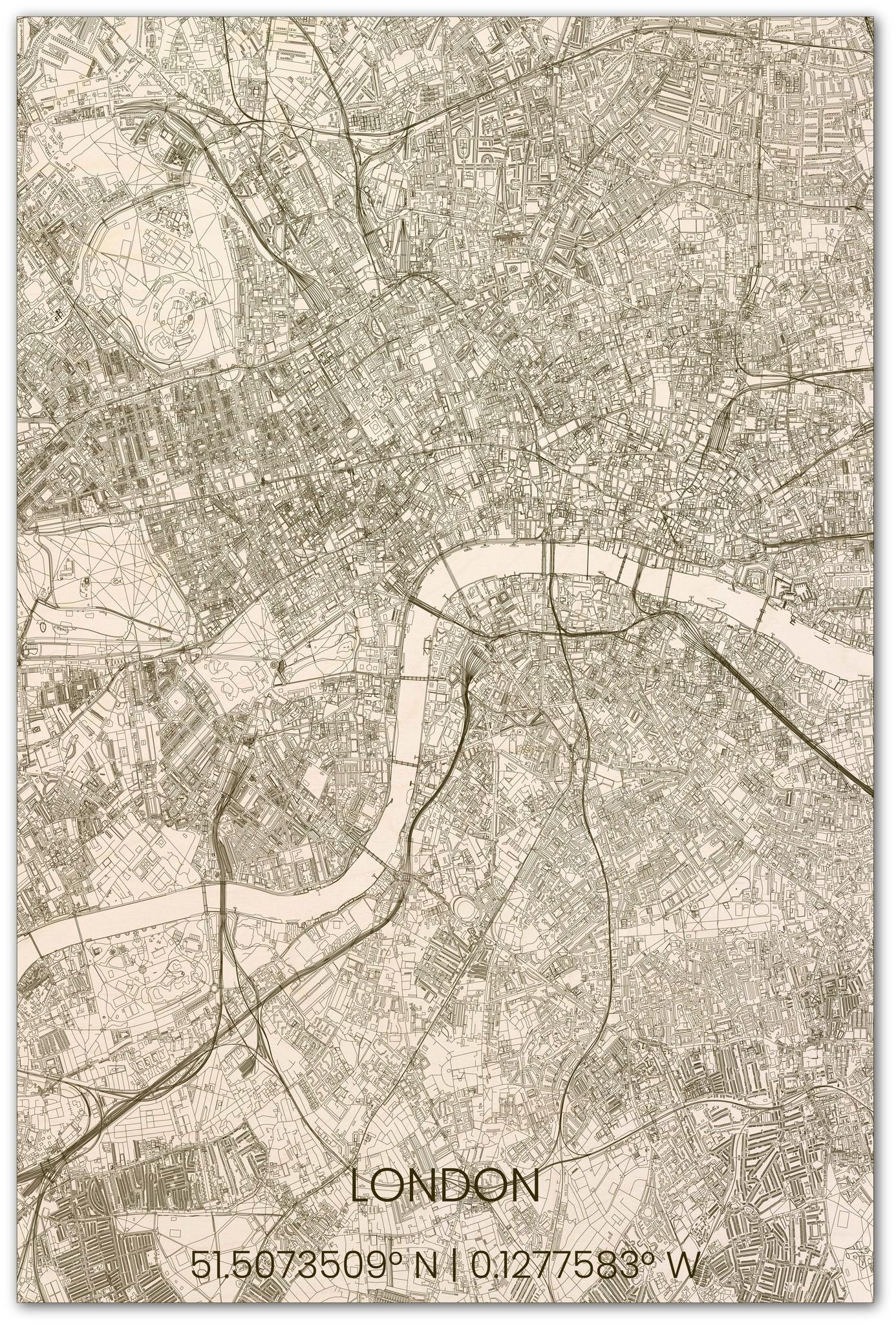 Stadsplattegrond Londen XL-1