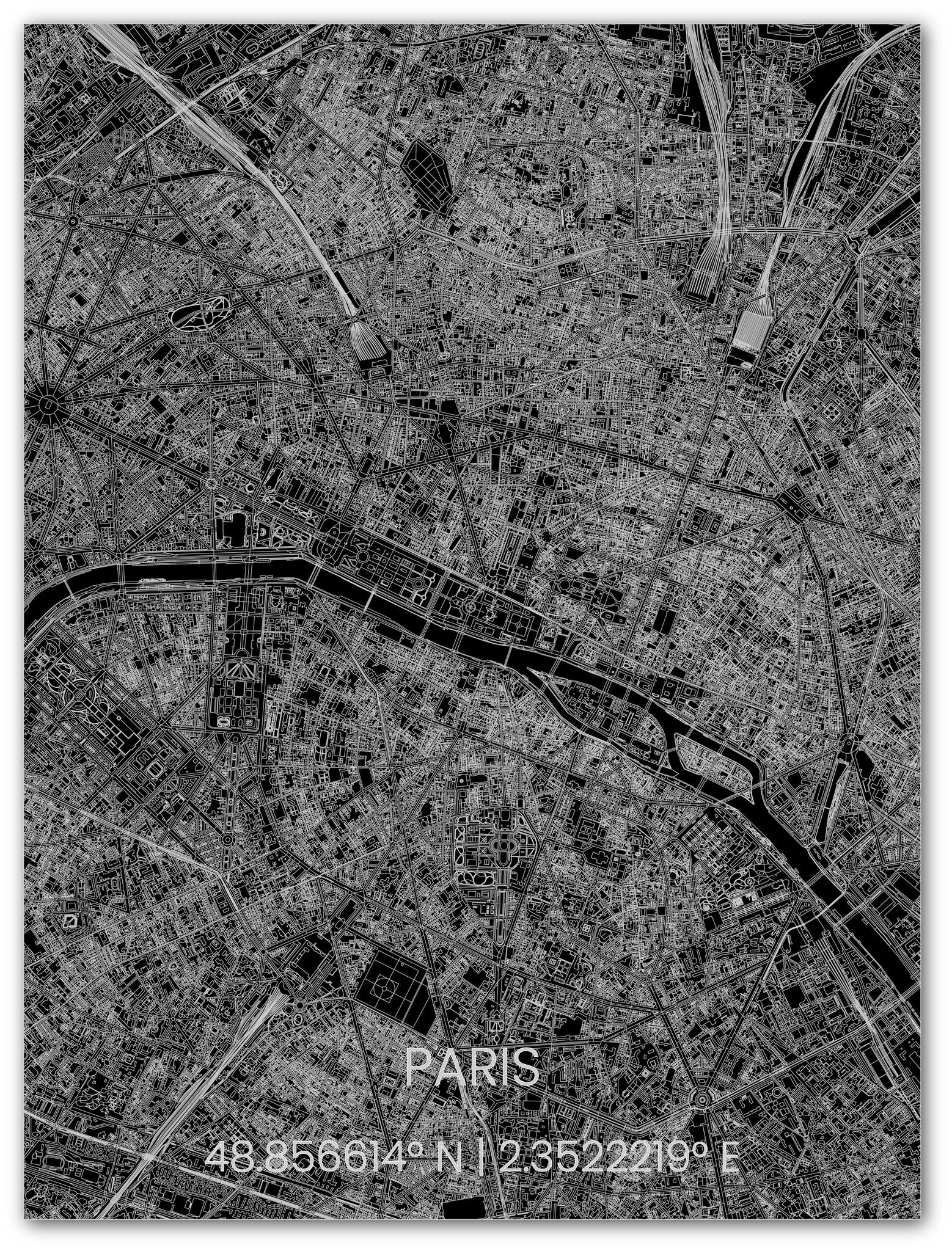 Metal citymap Paris-1