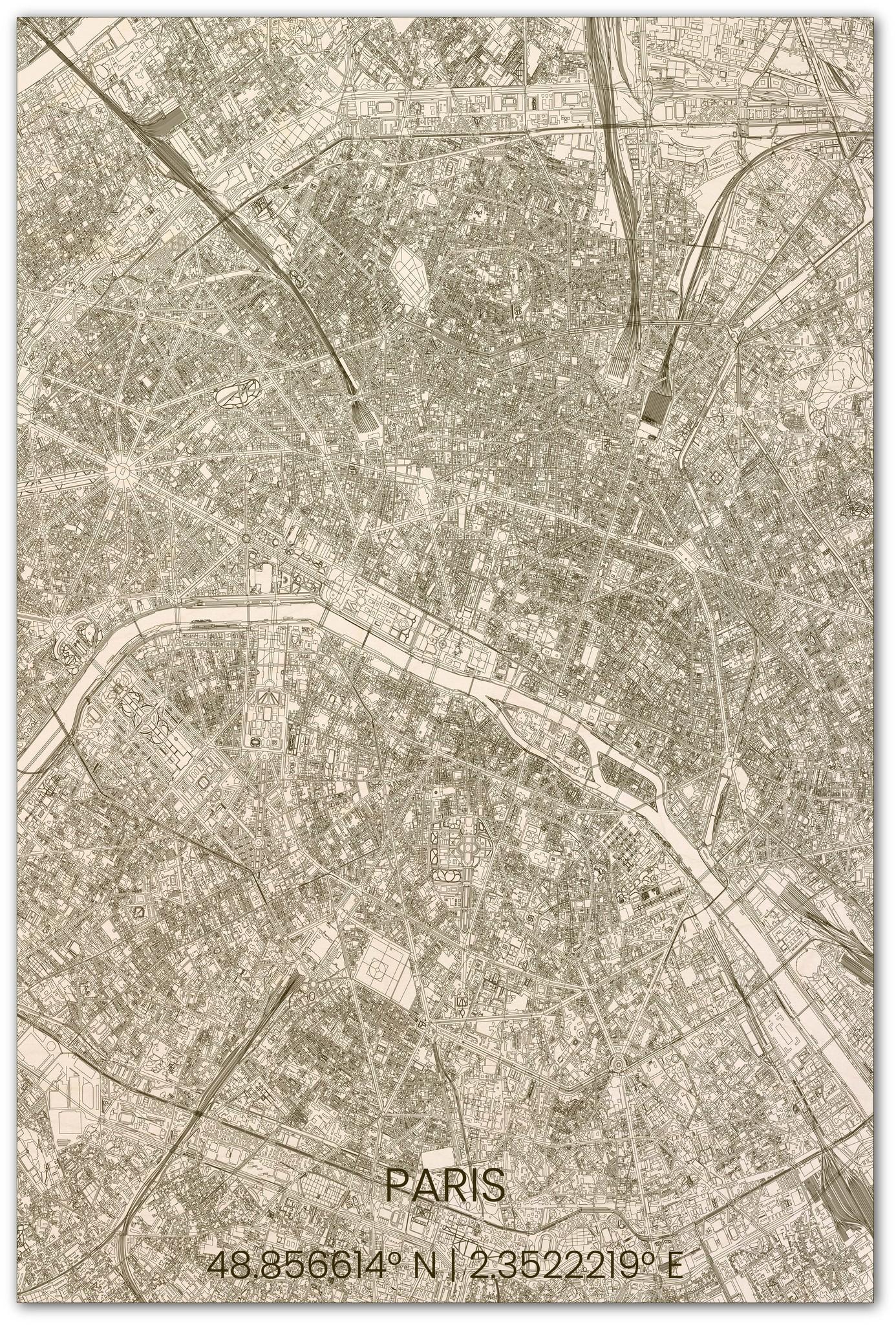 Stadtplan Paris XL-1