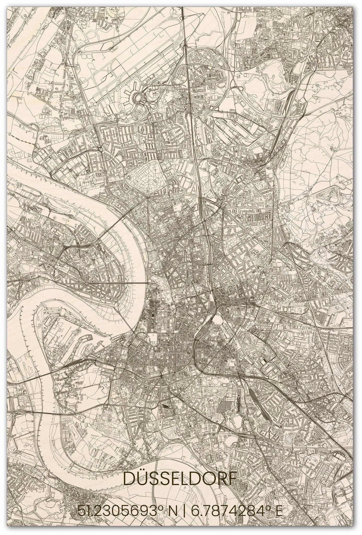 Stadsplattegrond Düsseldorf XL-1