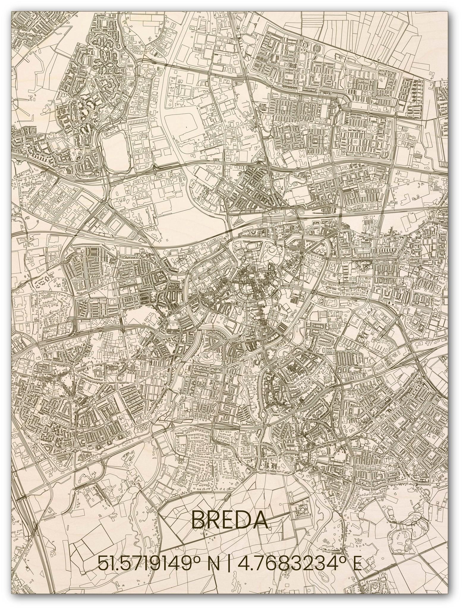 Hölzerner Stadtplan Breda-1