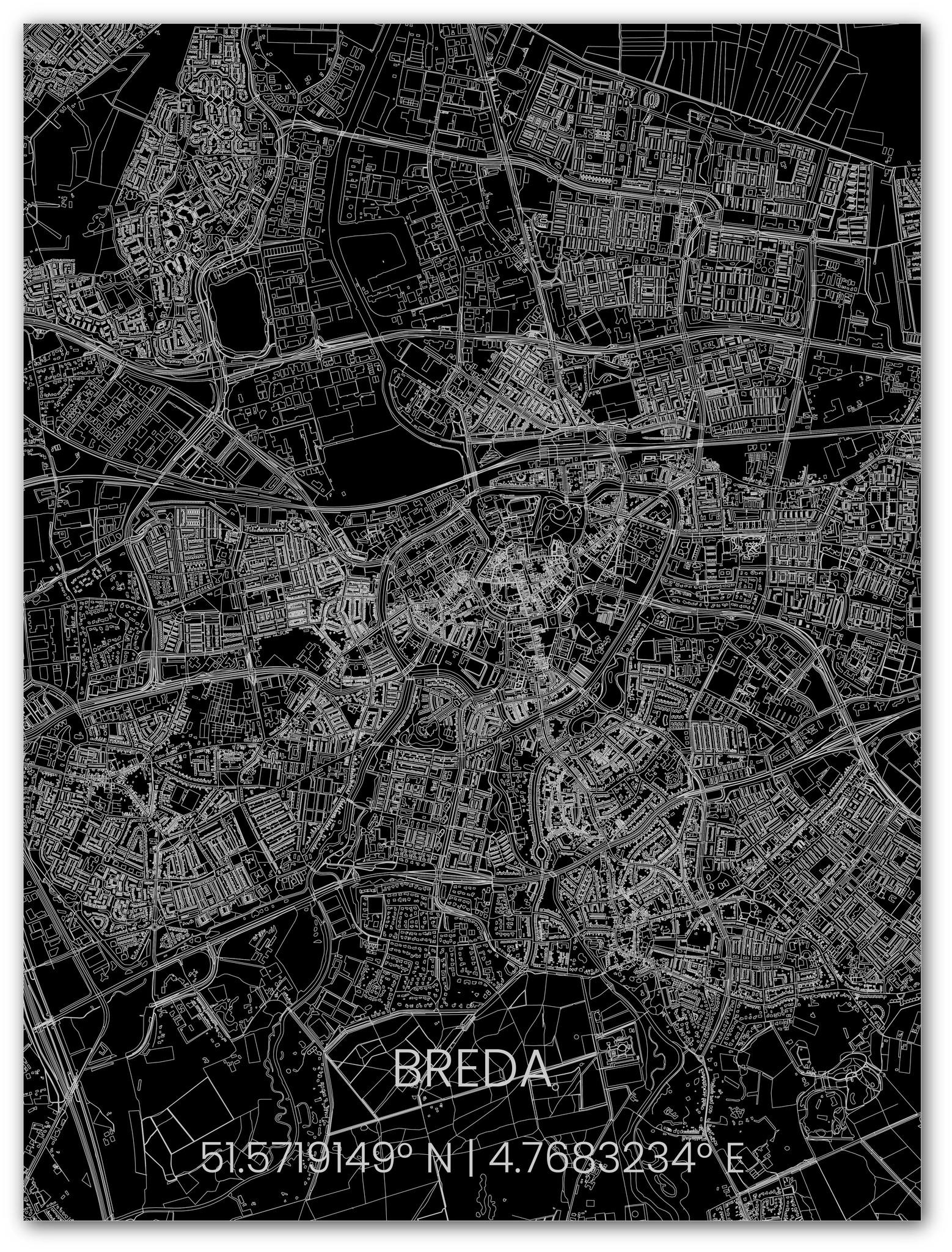 Metalen stadsplattegrond Breda-1