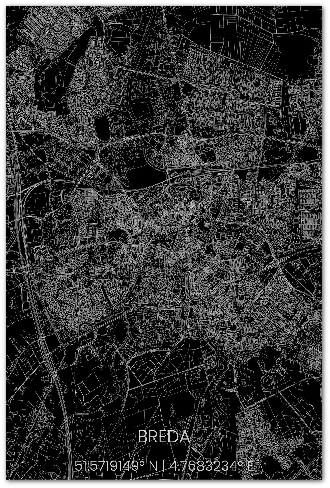Wall decoration citymap Breda XL-2